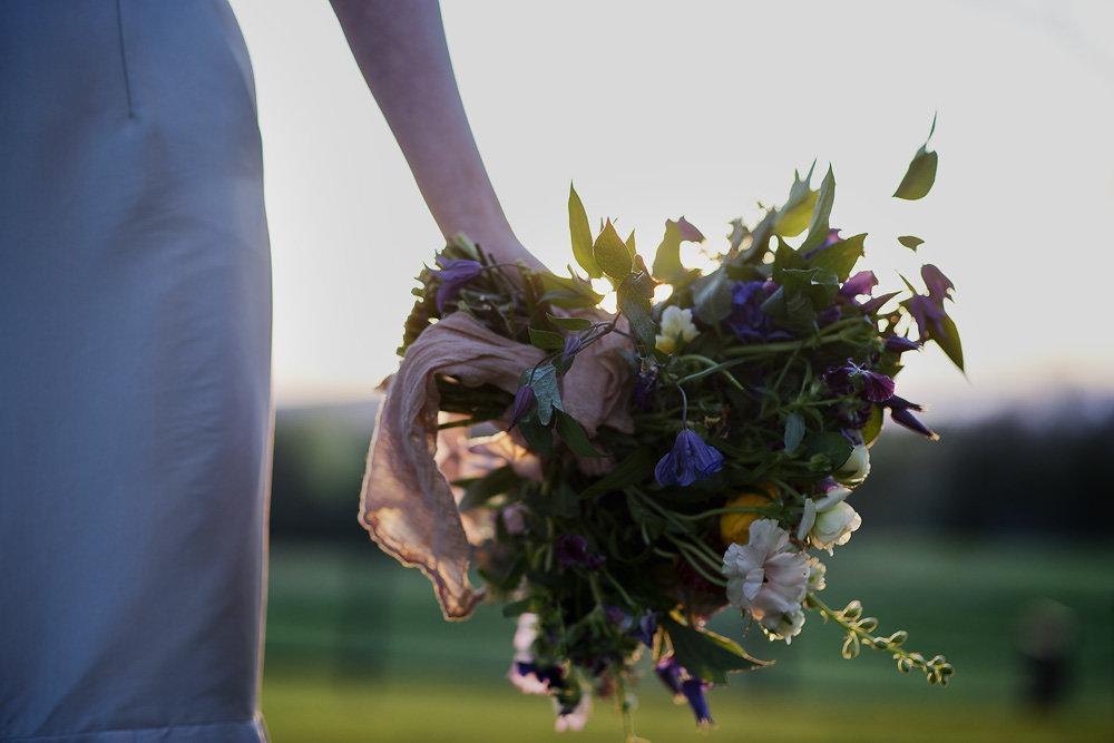 romantic wild organic wedding bouquet