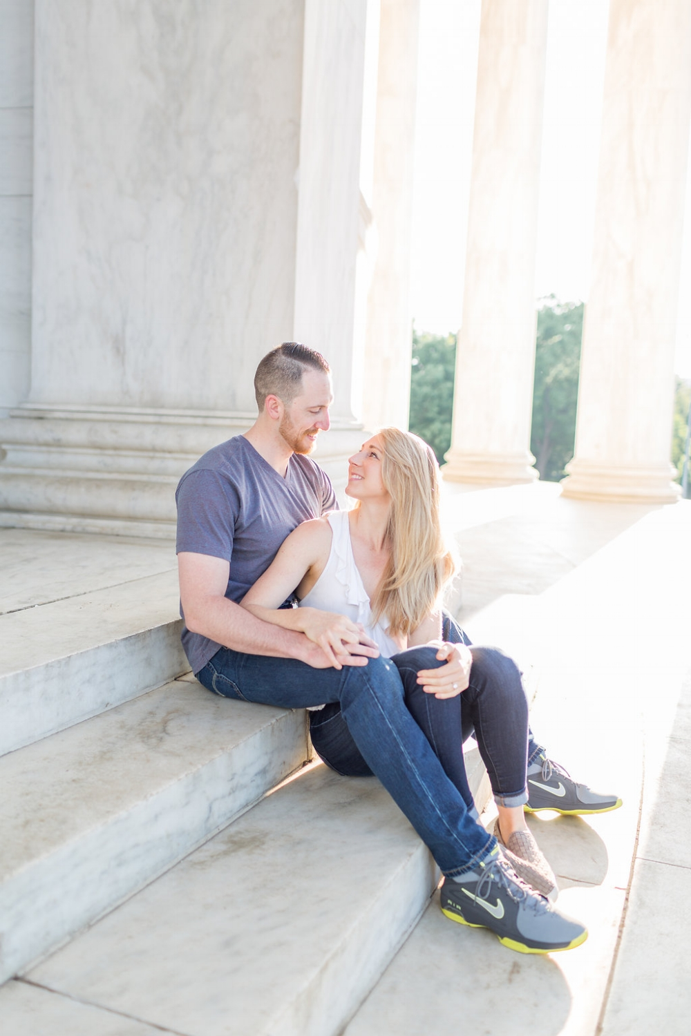 jefferson memorial engagement session washington dc sunrise session with kir tuben and sincerely pete