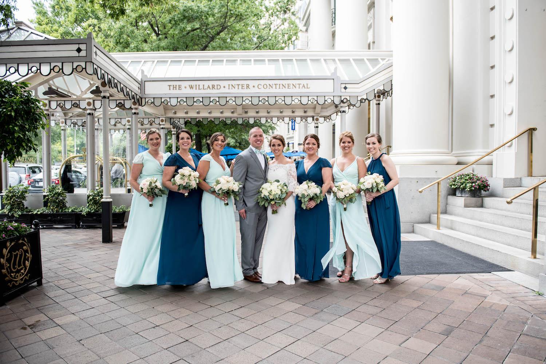 Washington DC Wedding - Sincerely Pete Events - Erin Tetterton Photography - Willard Wedding Party Photos