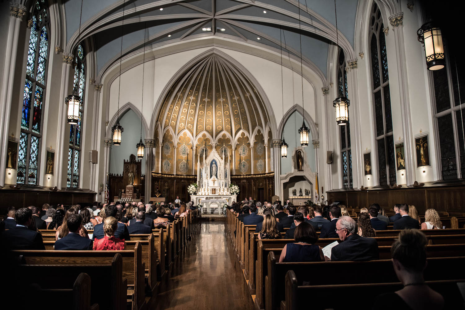 Washington DC Wedding - Sincerely Pete Events - Erin Tetterton Photography - Immaculate Conception Catholic Church
