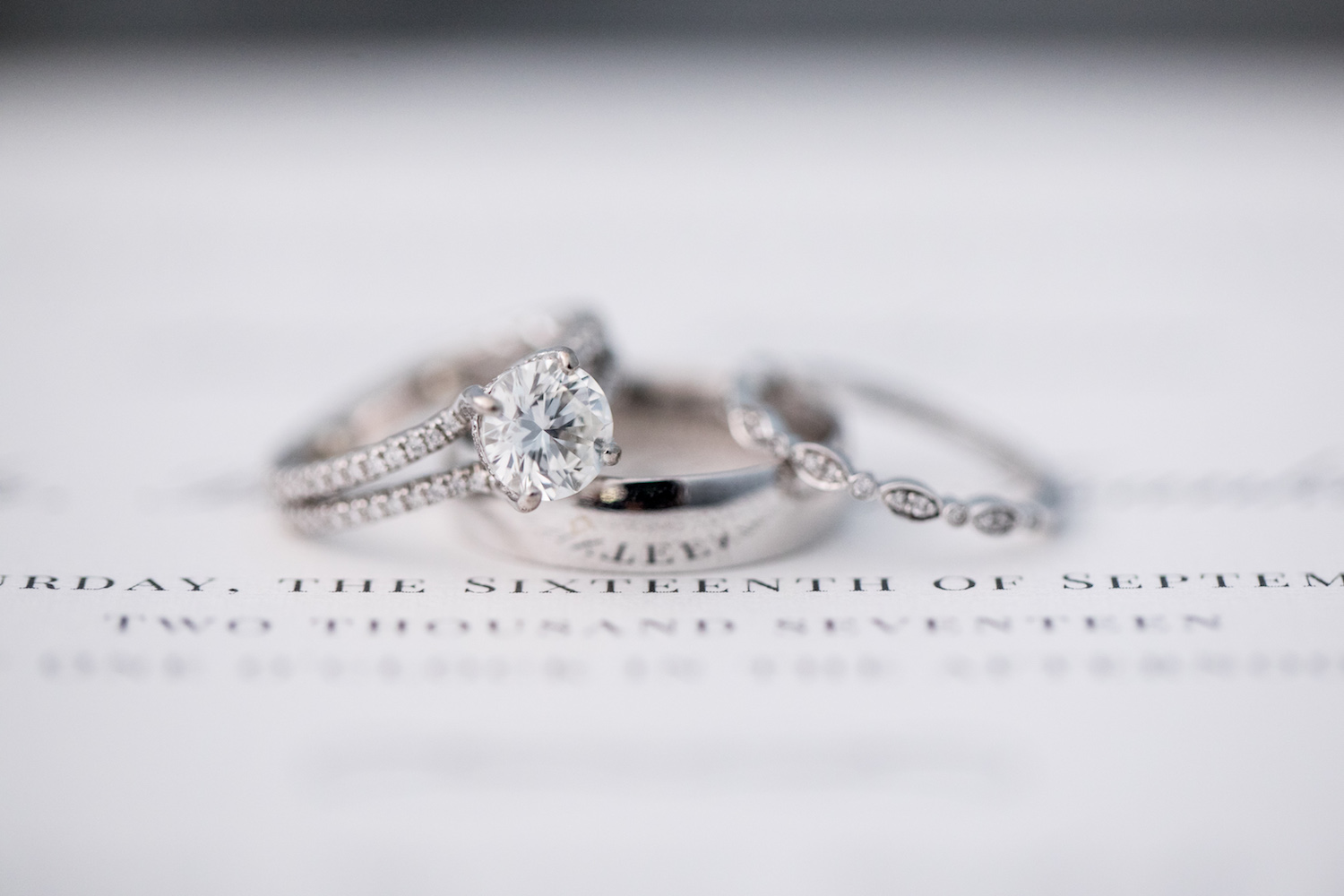Wedding Rings St Francis Hall Washington DC Wedding Sincerely Pete Events Liz and Ryan Photography
