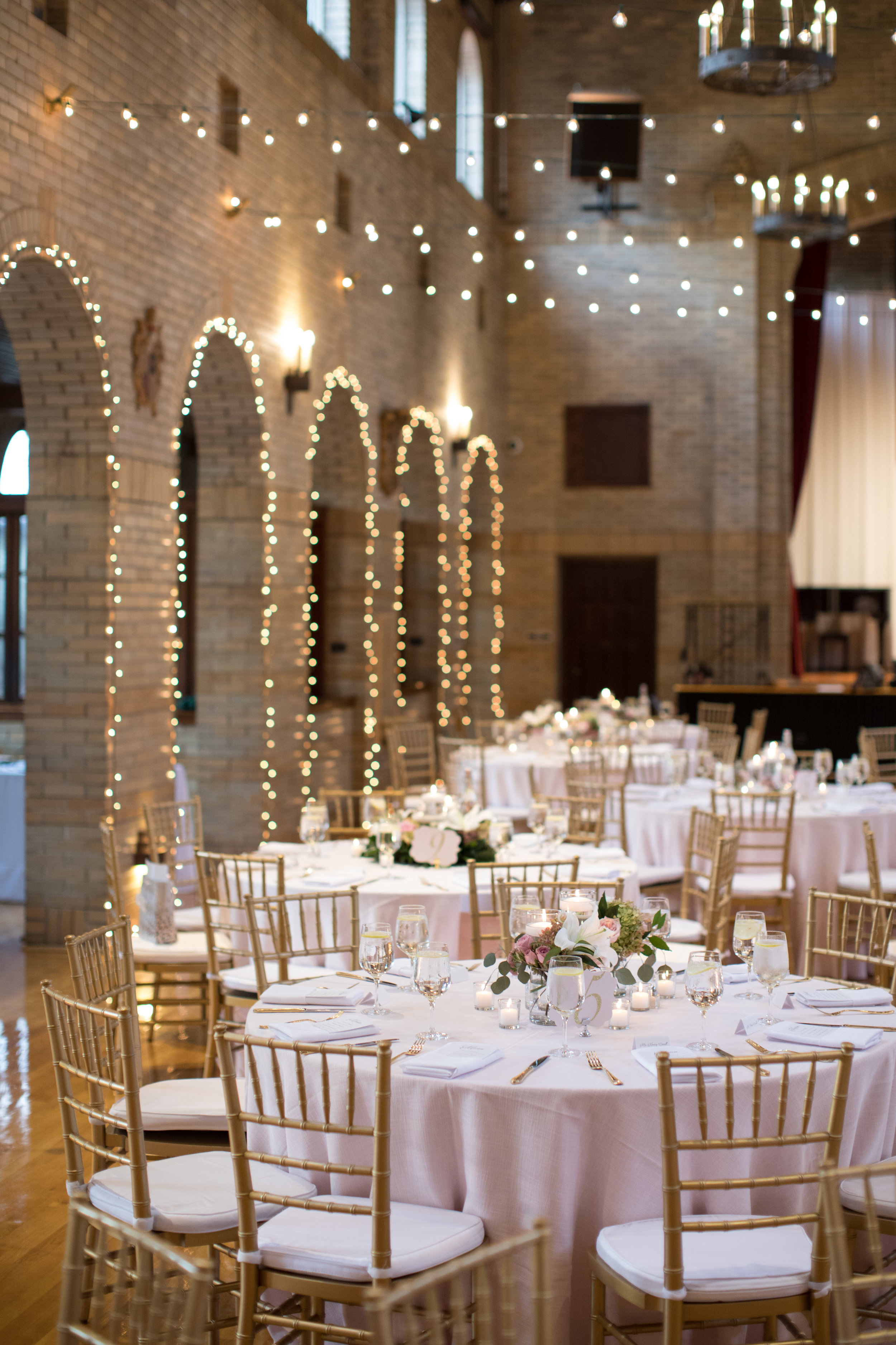 St Francis Hall Washington DC Cream and Blush Wedding Sincerely Pete Events Liz and Ryan Photography