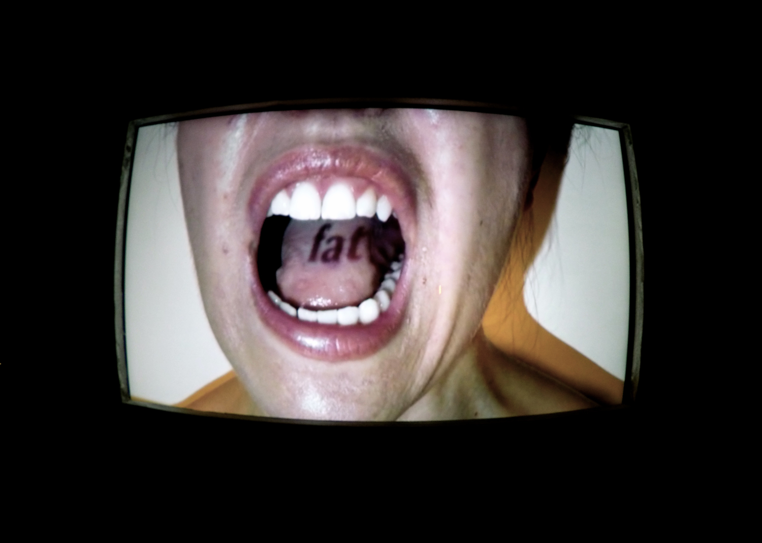 The Unsaid  Catherine Siller video, 5:00 min. 2011   Chewed  video, 3:29 min. 2013