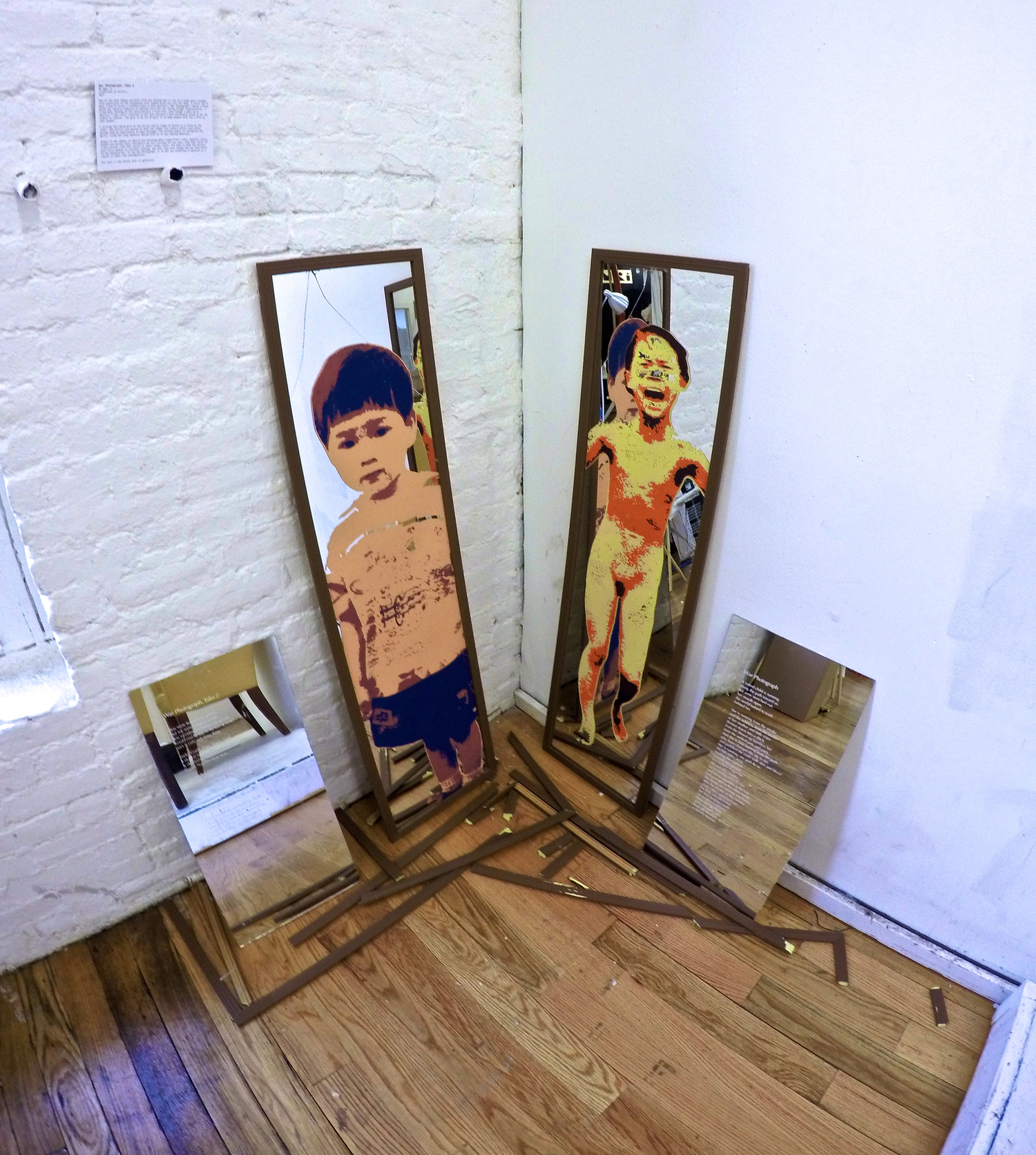 War Photograp  h, Take 2  My Ngoc To silkscreen on mirrors 2015