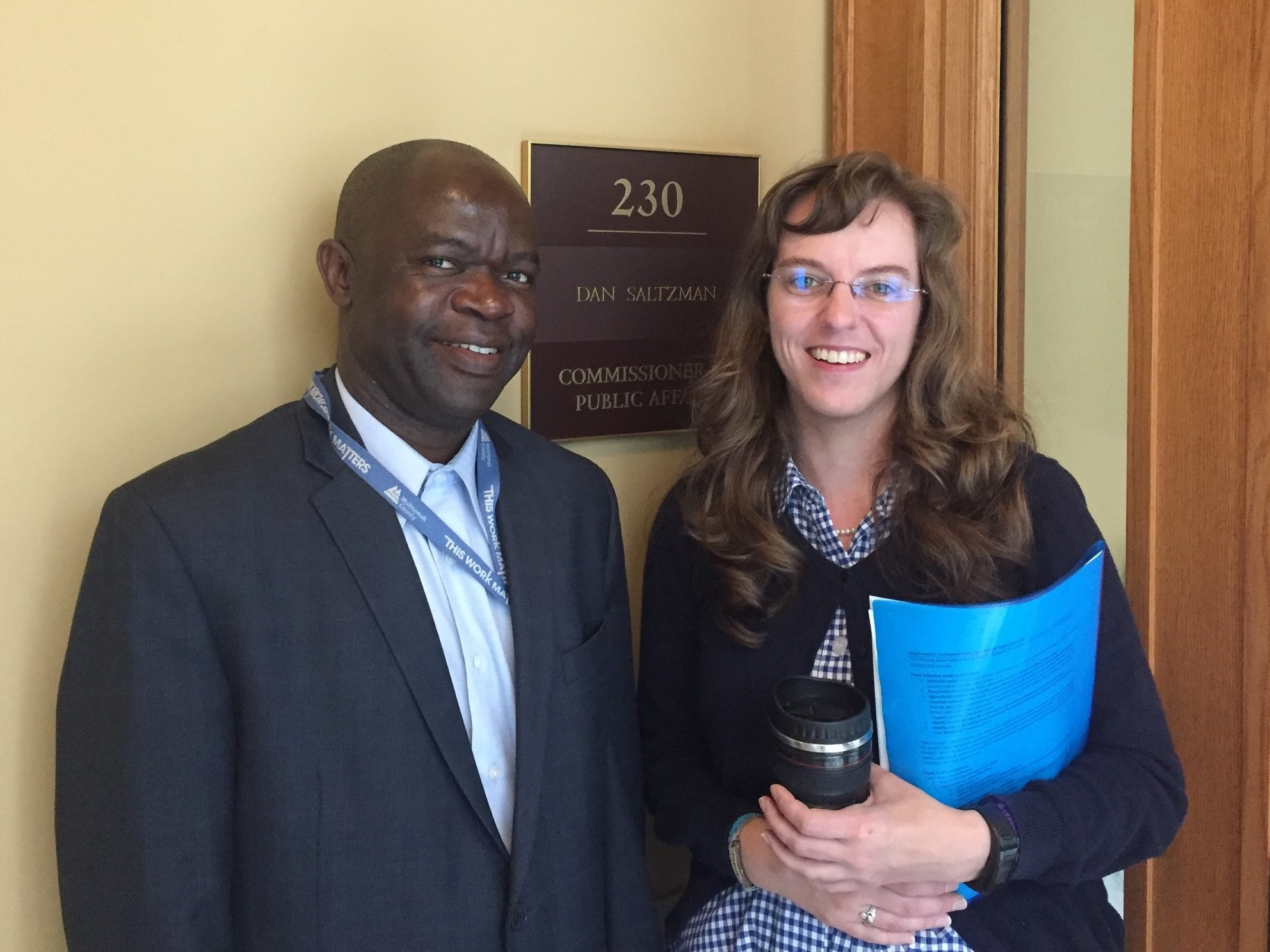 Congolese Community Leader Eugene Sadiki and Enough Project Activist Leader Amanda Ulrich