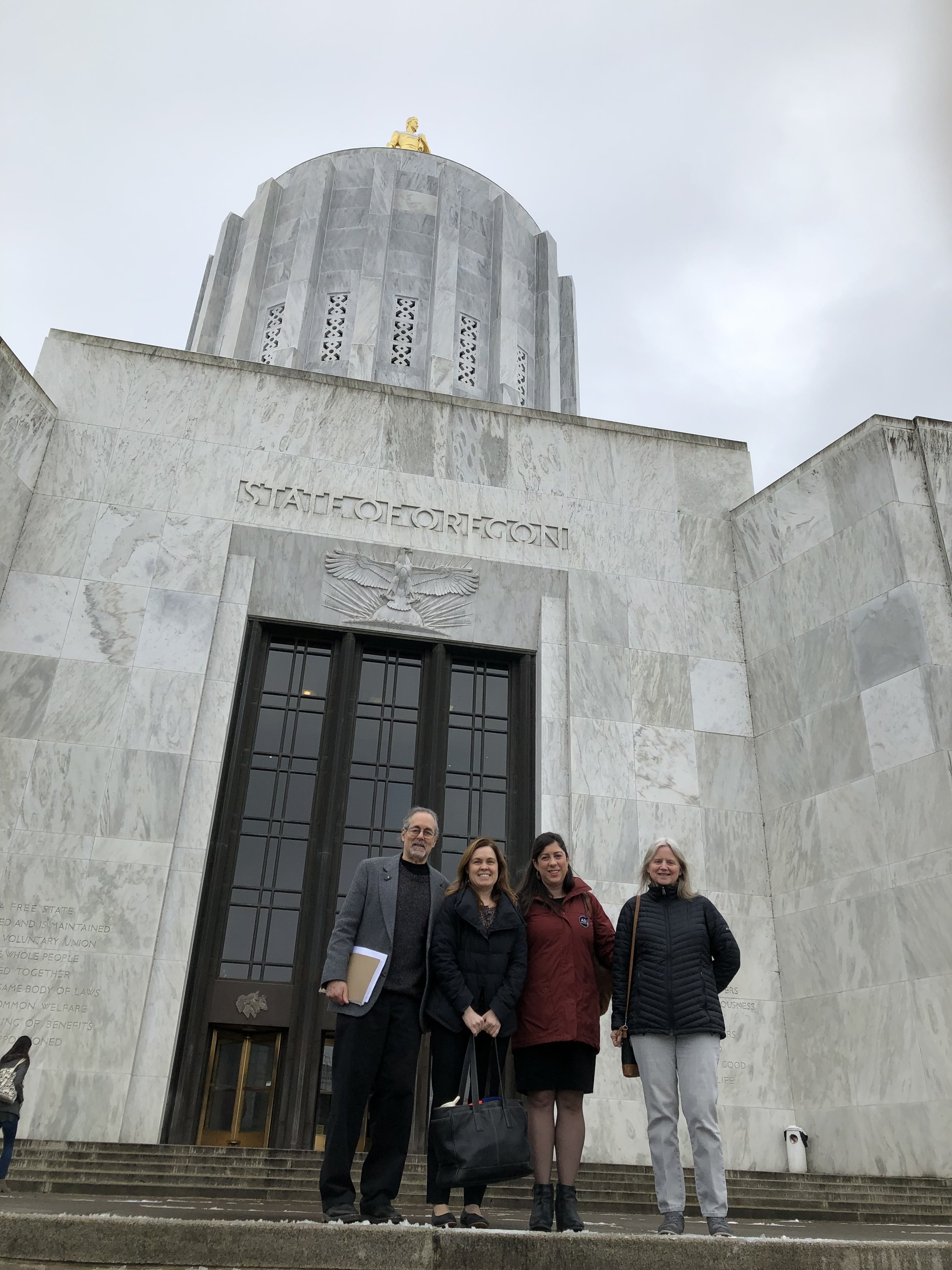Heading into the Oregon State Capitol in Salem