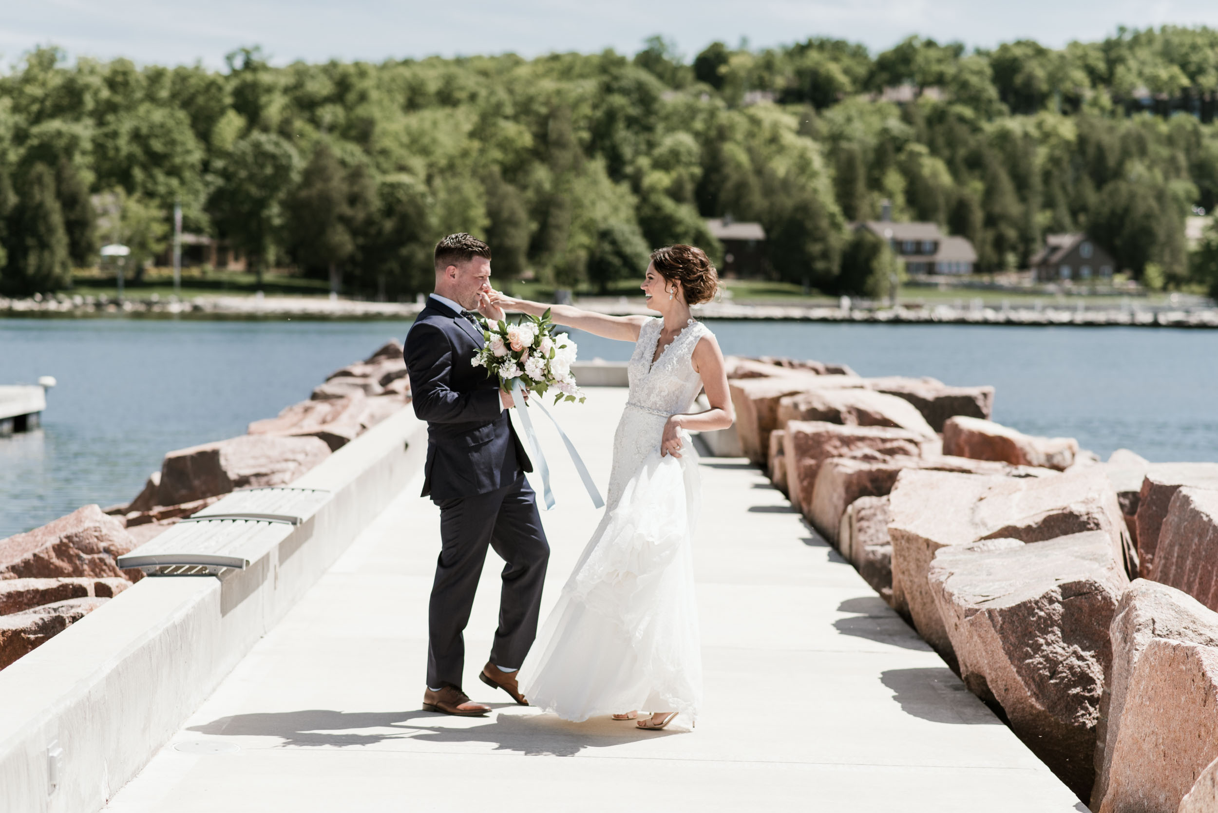 Gavyn Taylor Photo Donald Carol Kress Pavilion Egg Harbor Wisconsin wedding