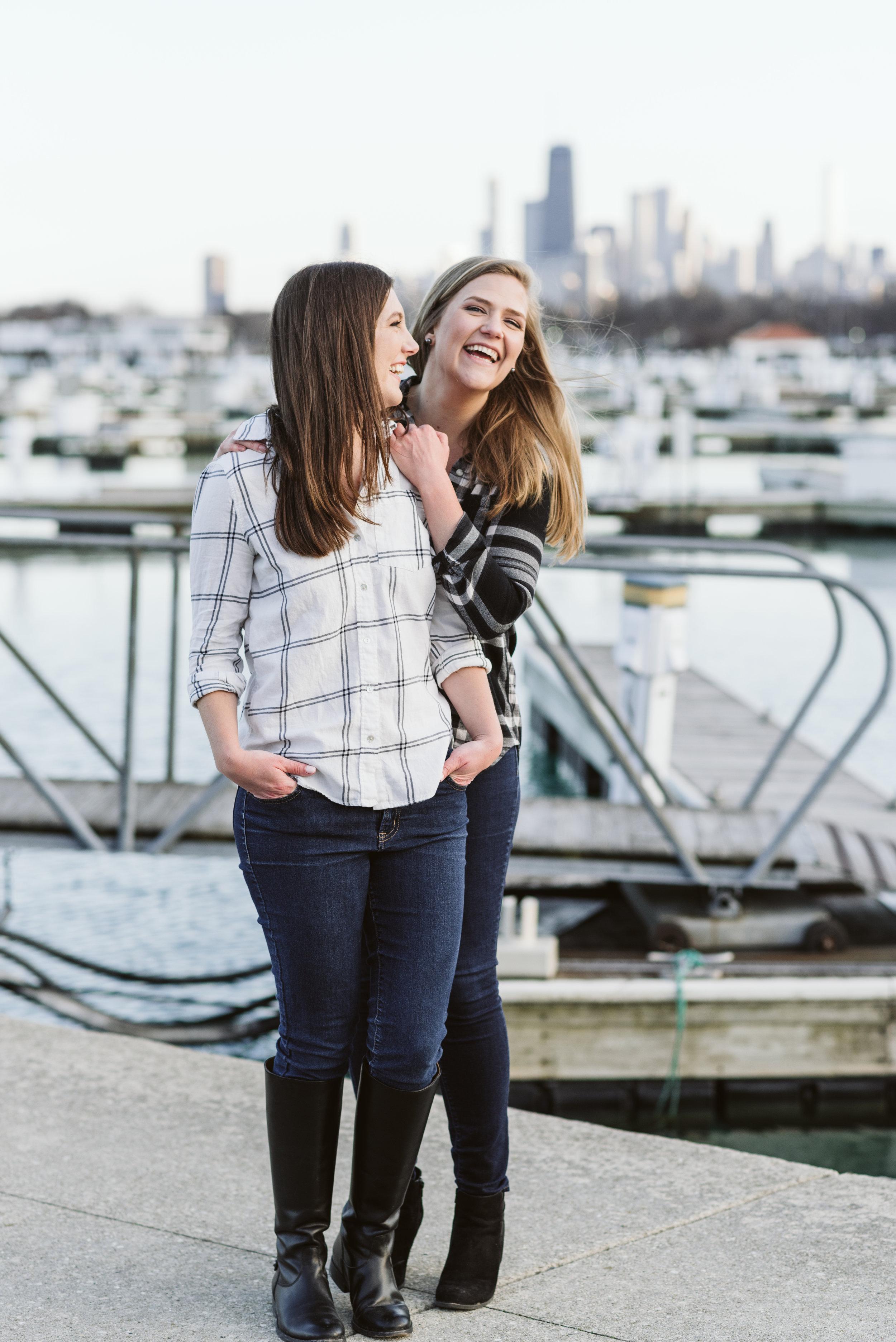Belmont Harbor engagement session chicago wedding photographer