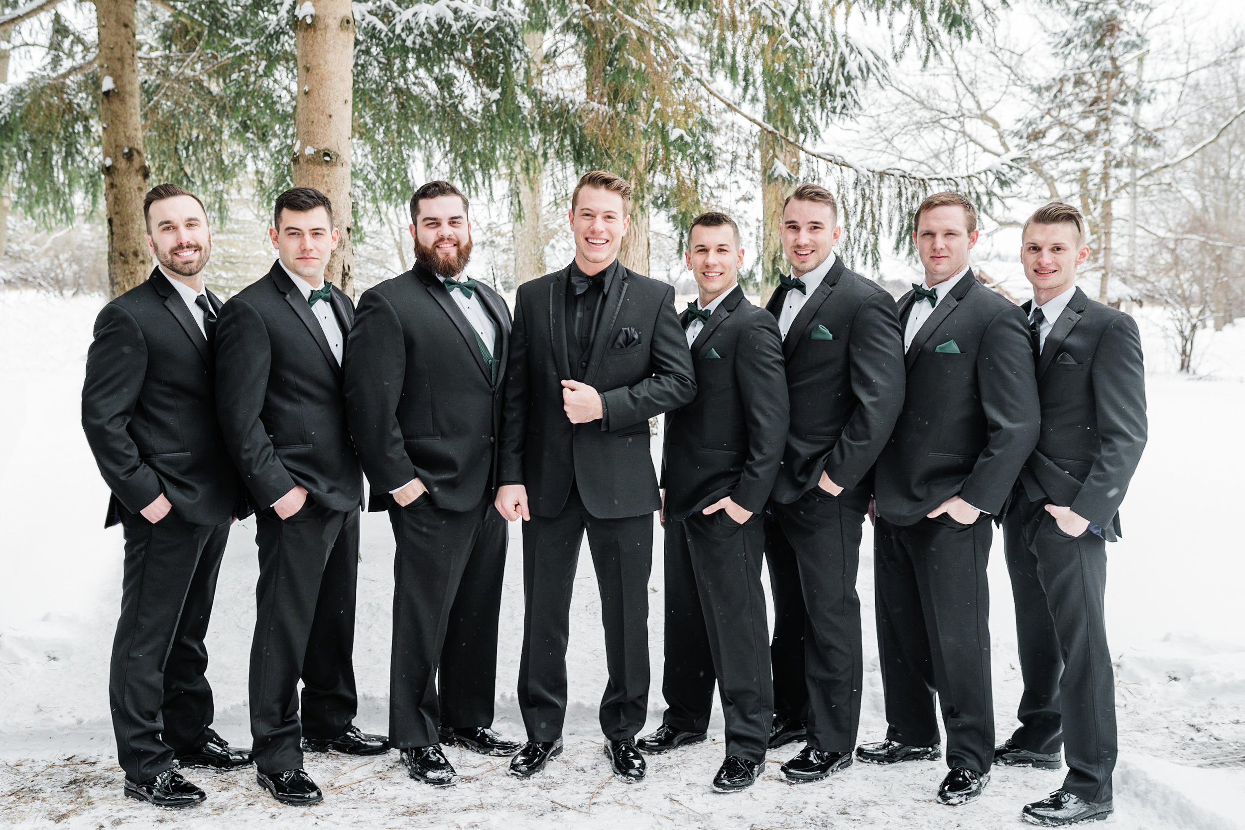 Golden Mast Inn Wisconsin Winter Wedding Gavyn Taylor Photo