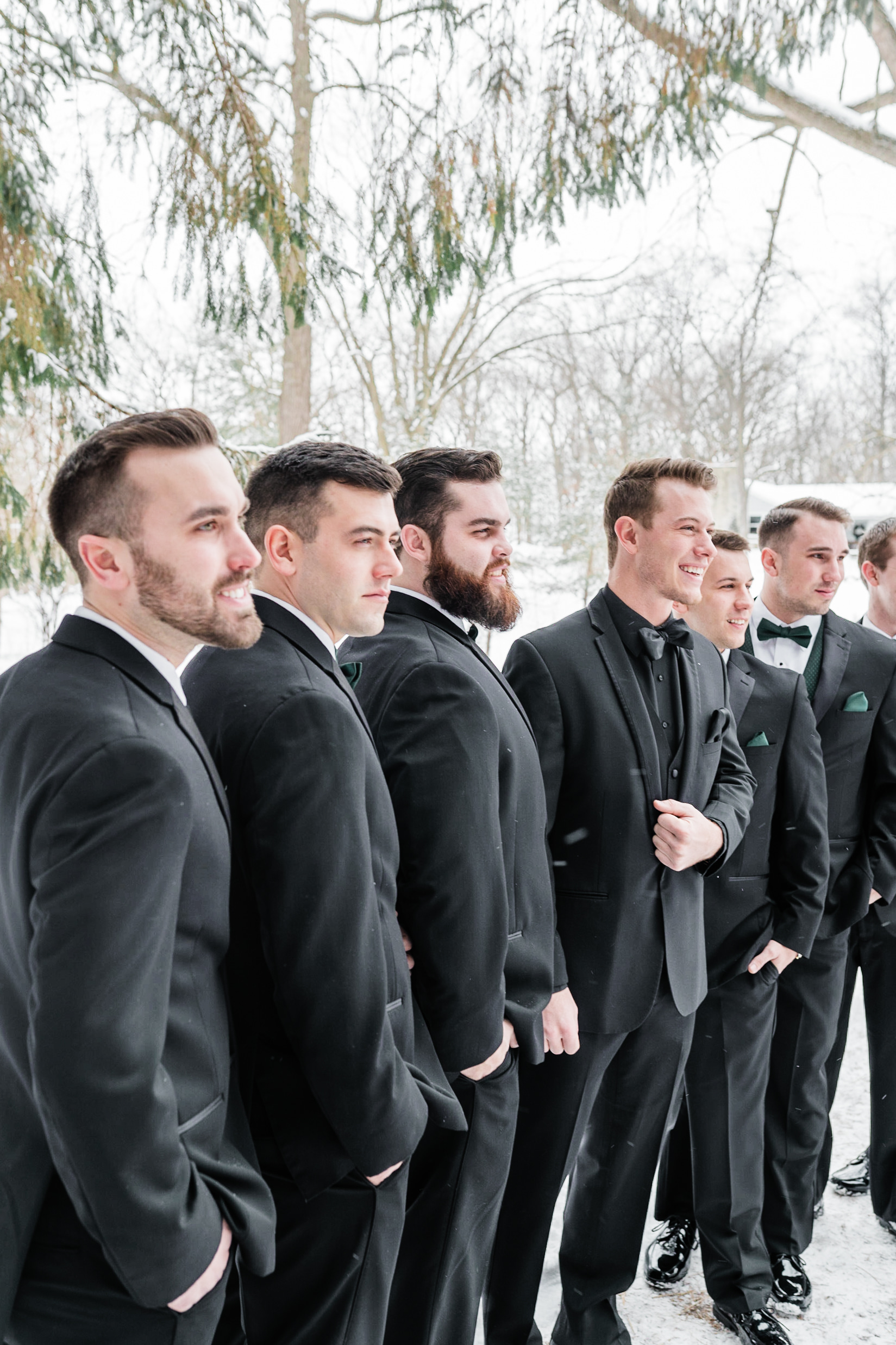 Groomsmen portraits  Winter Wedding Gavyn Taylor Photo