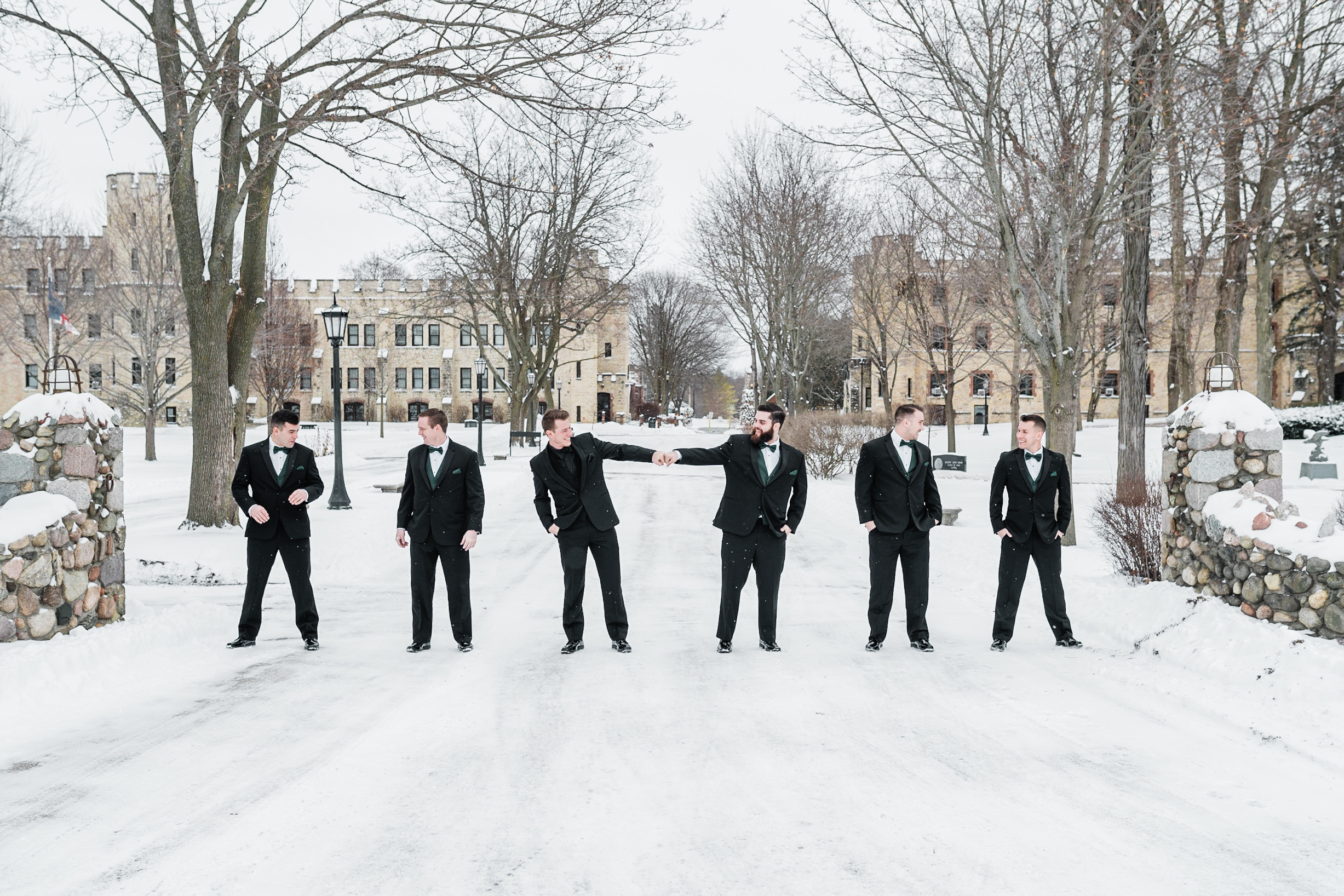 Groomsmen Wisconsin Winter Wedding Gavyn Taylor Photo
