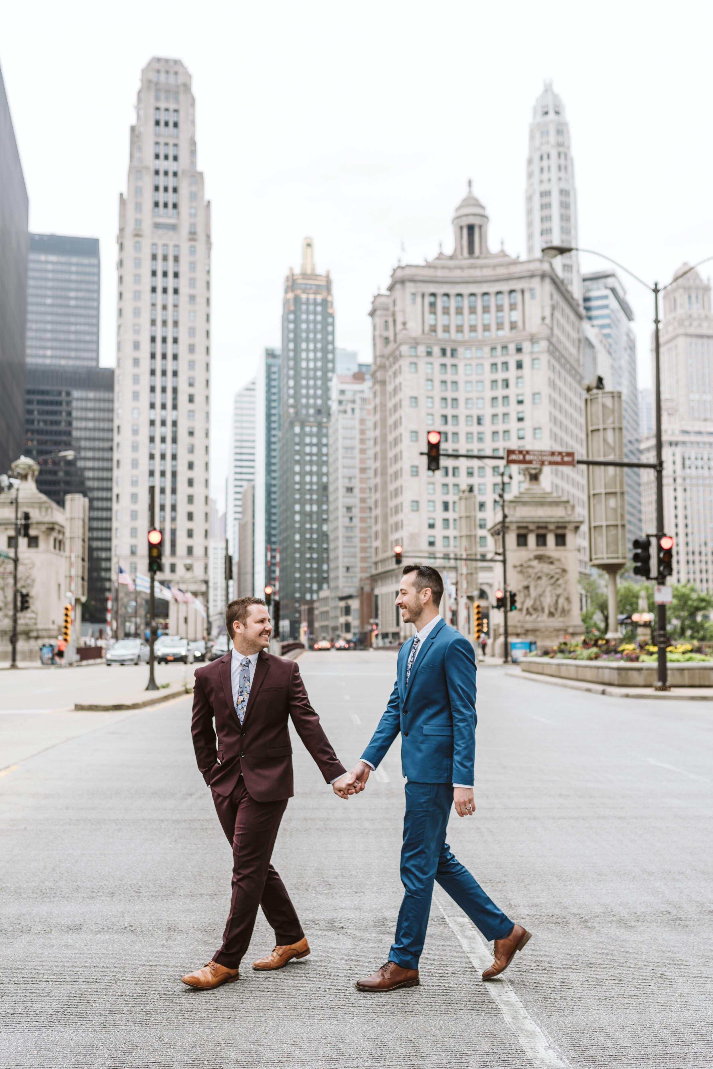Wrigley Building Chicago Engagement Session