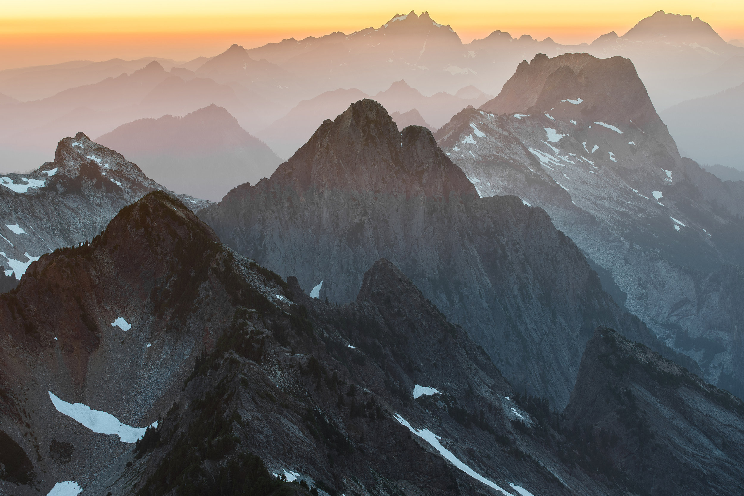 Summit view at sunset proper.