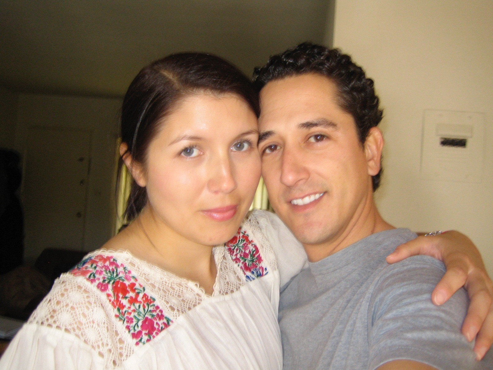 The first picture of me and Kevin in November 2006, a month after we started dating.