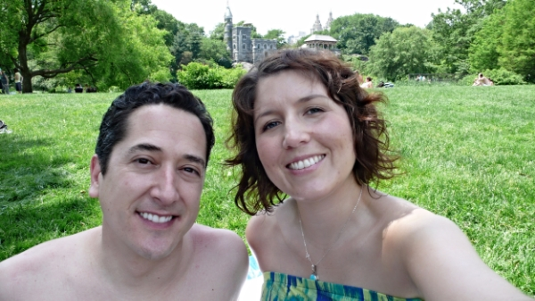Right after we found out we were pregnant we went to New York and had a picnic in Central Park. We were so ecstatic.
