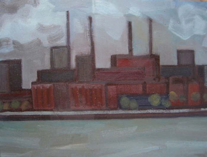 """EAST RIVER BLUES: TWO, 2010, 18""""X24"""""""