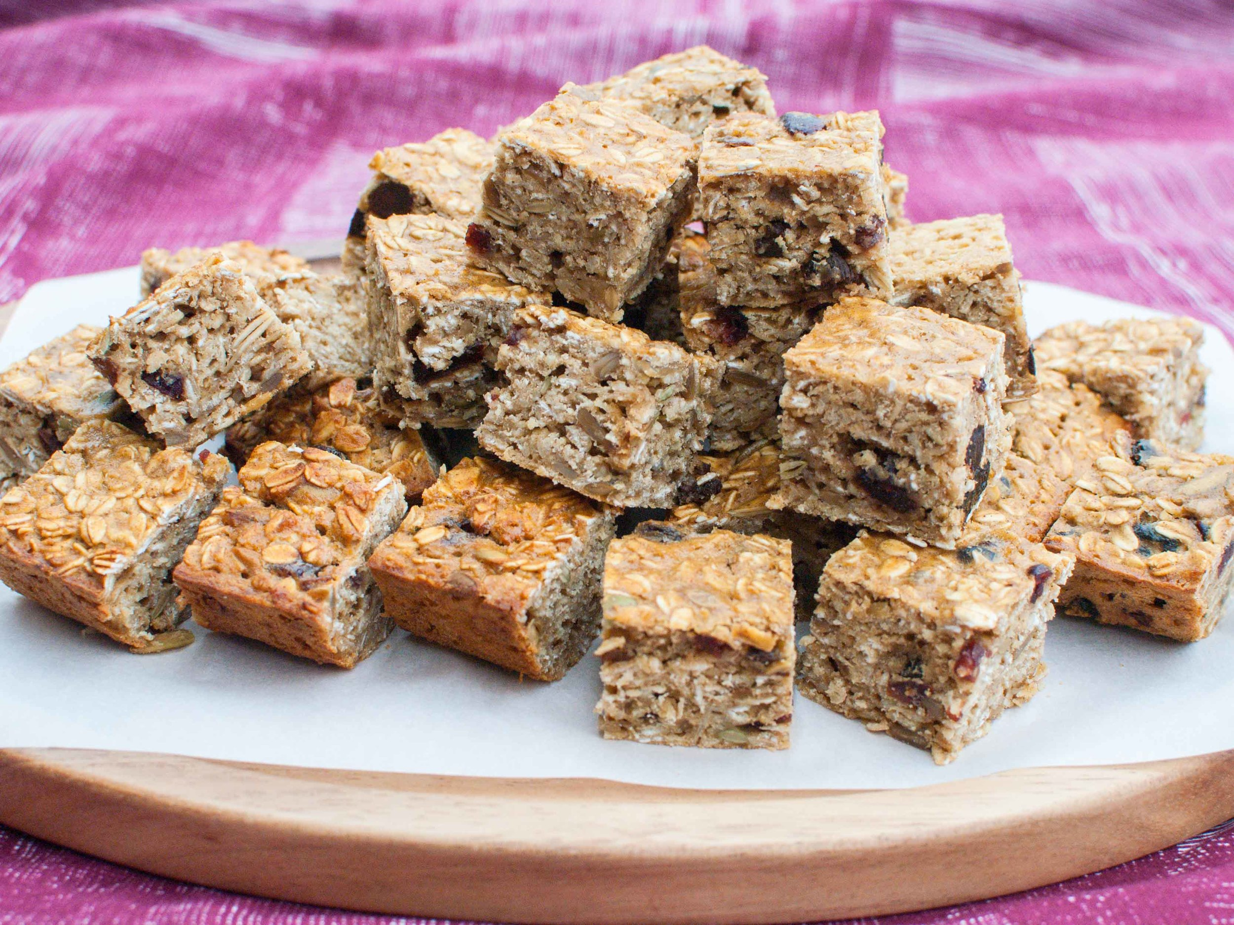 Oatmeal Fruit-Nut Bars