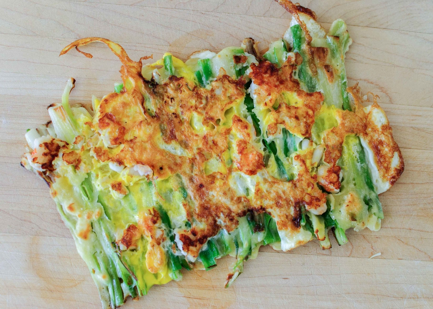 Korean Green Onion and Seafood Pancakes (Pa Jun)