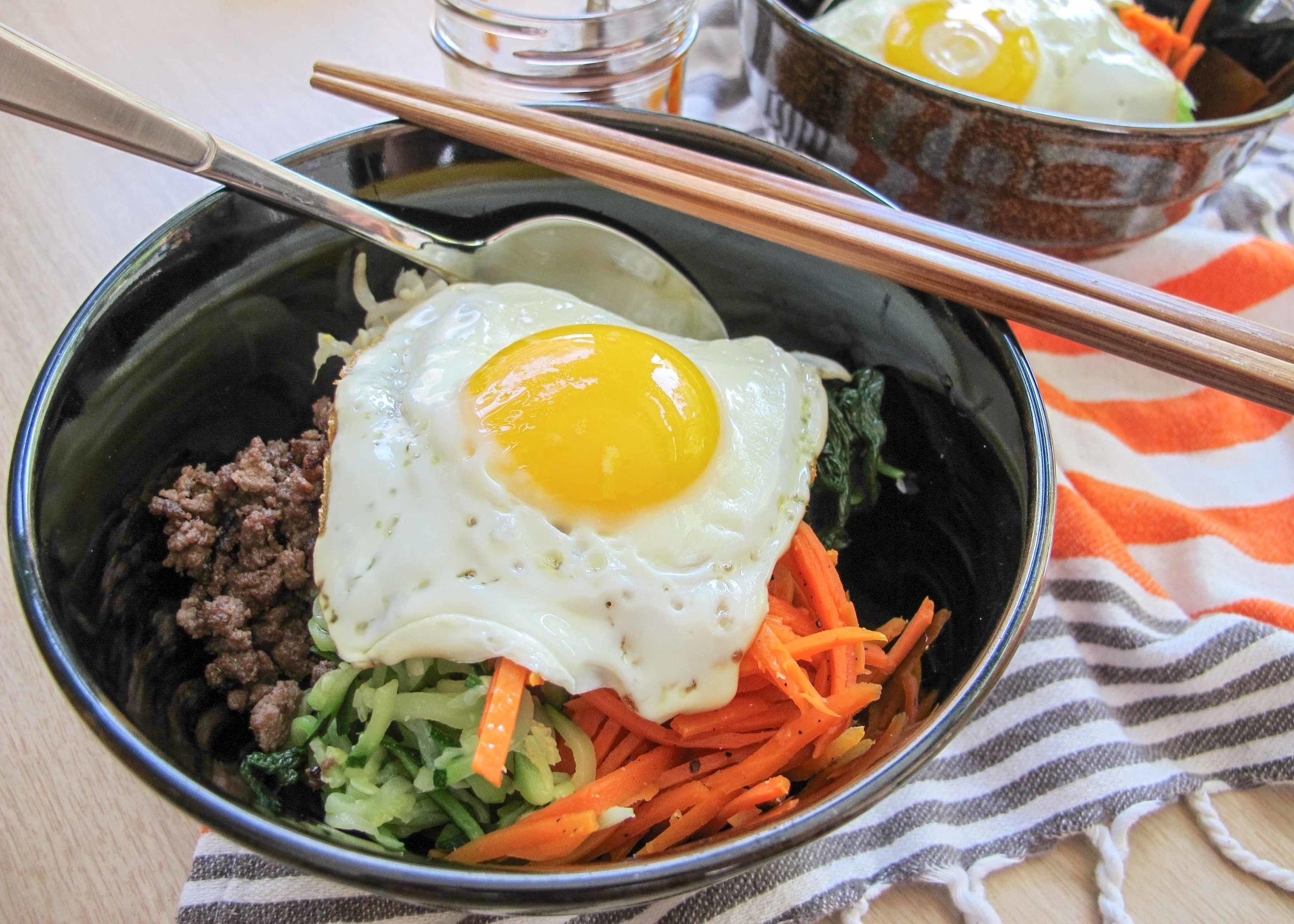 bi bim bap (Korean mixed rice)