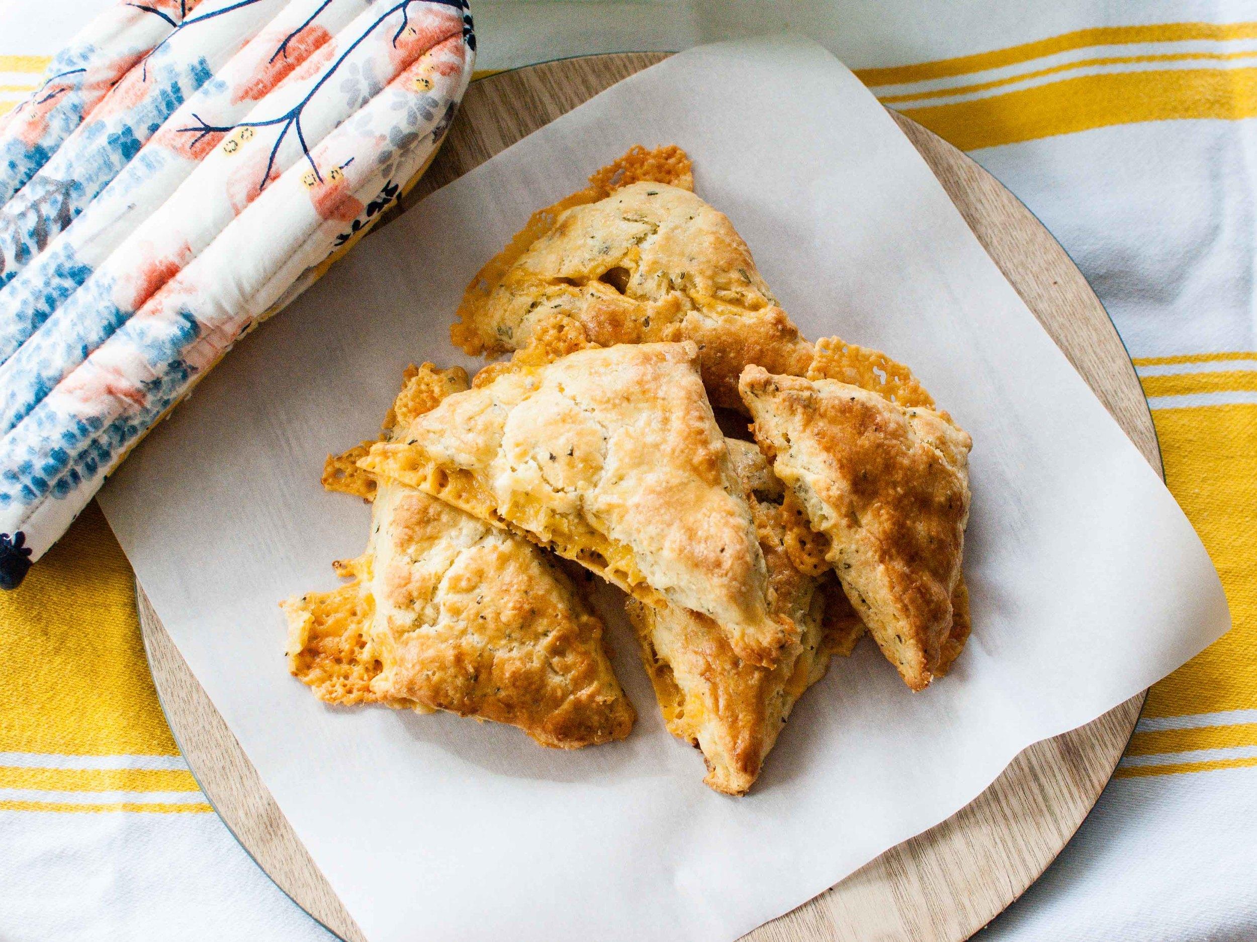 cheddar-rosemary scones