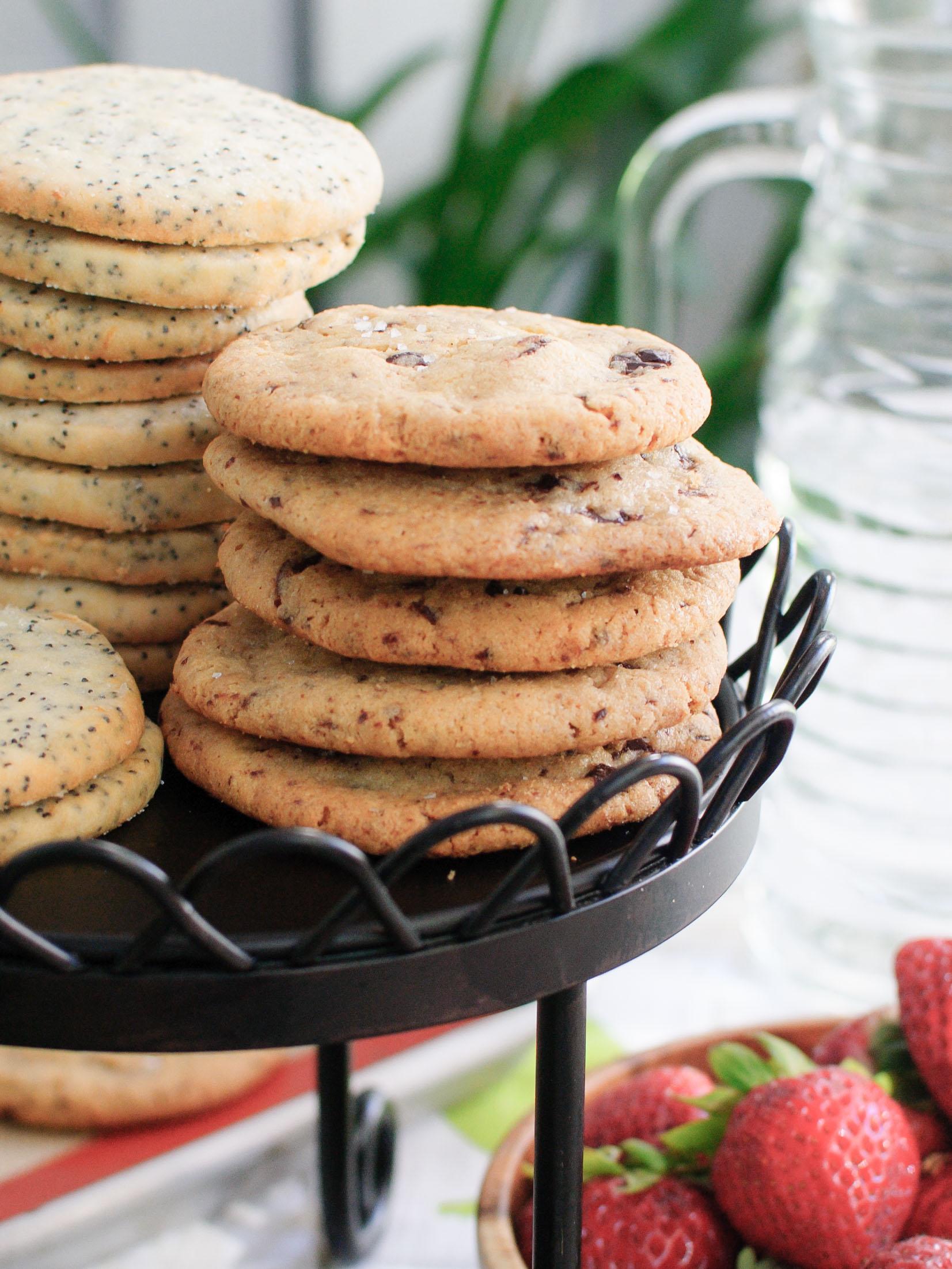 Salted Tahini Chocolate Chip Cookies