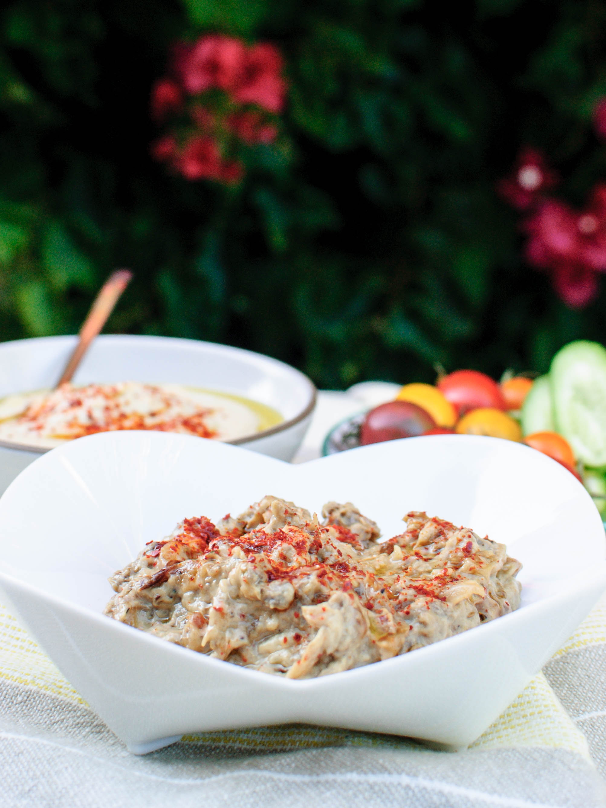 Eggplant Dip with Caramelized Onions and Tahini