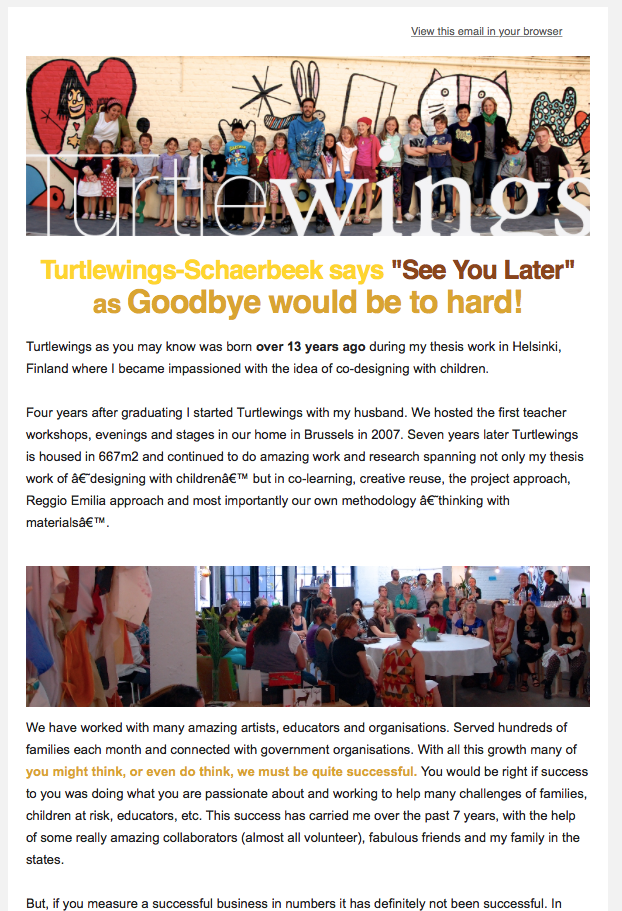 Turtlewings Newsletter 2014