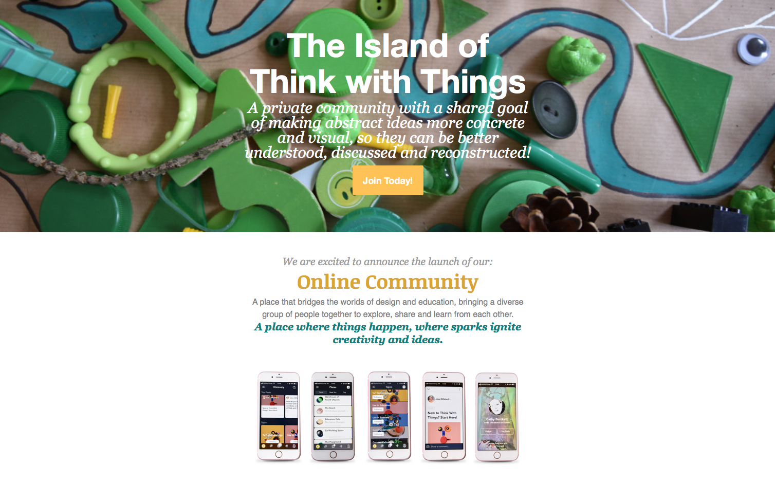 Think with Things online learning platform
