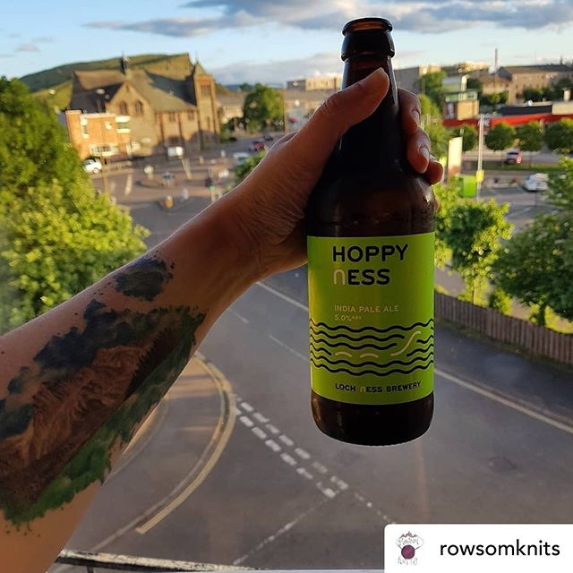 Posted @withrepost • @rowsomknits Cheers to Scotland!  I'm enjoying this delicious beer that has the best name ever. 🏴󠁧󠁢󠁳󠁣󠁴󠁿