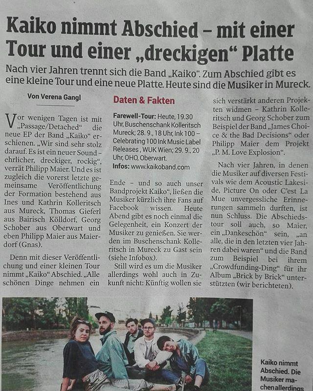 Dirty Stuff! Danke @kleinezeitung 💋