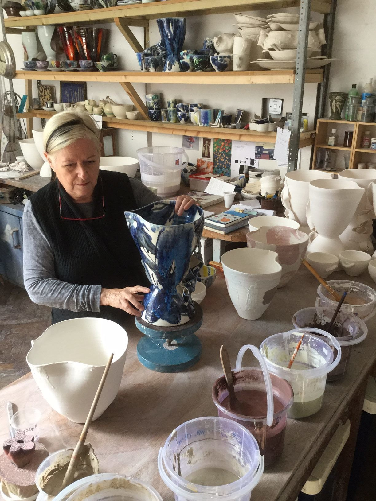 Janice in her Forest Hill studio, 2015.