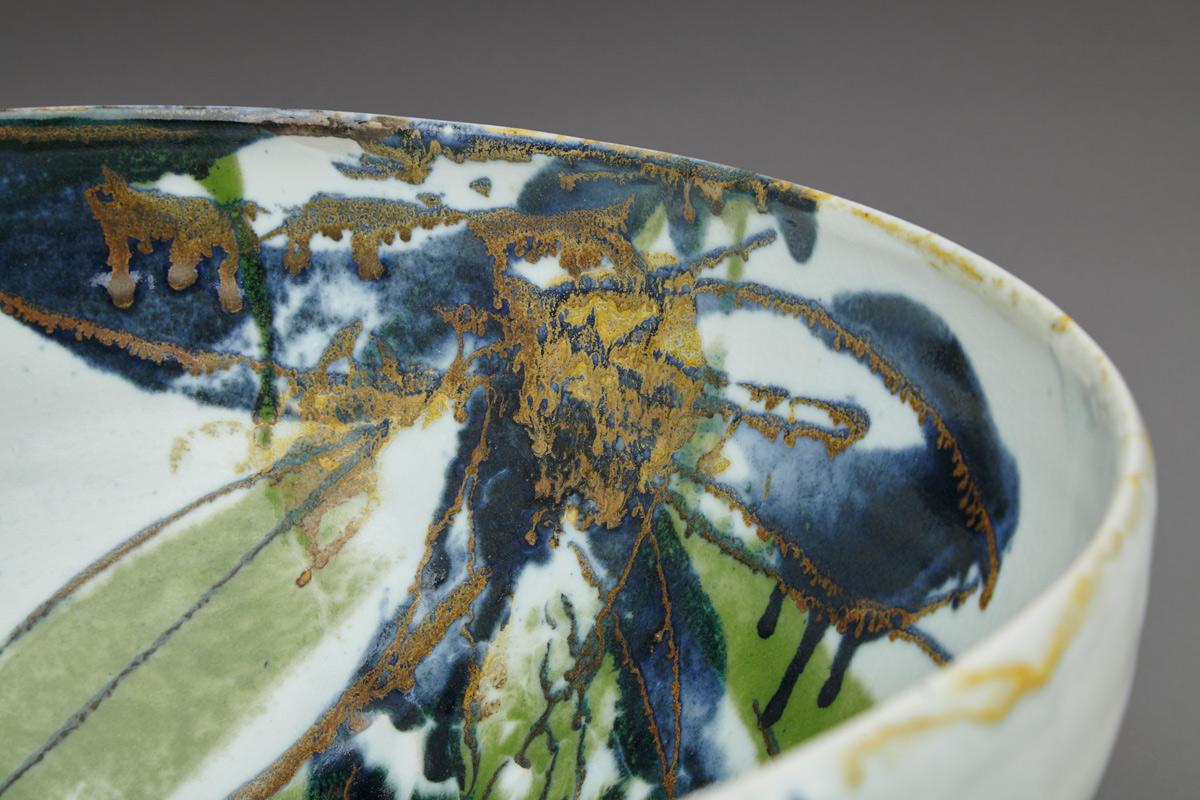 Detail Large Green Leaf Bowl