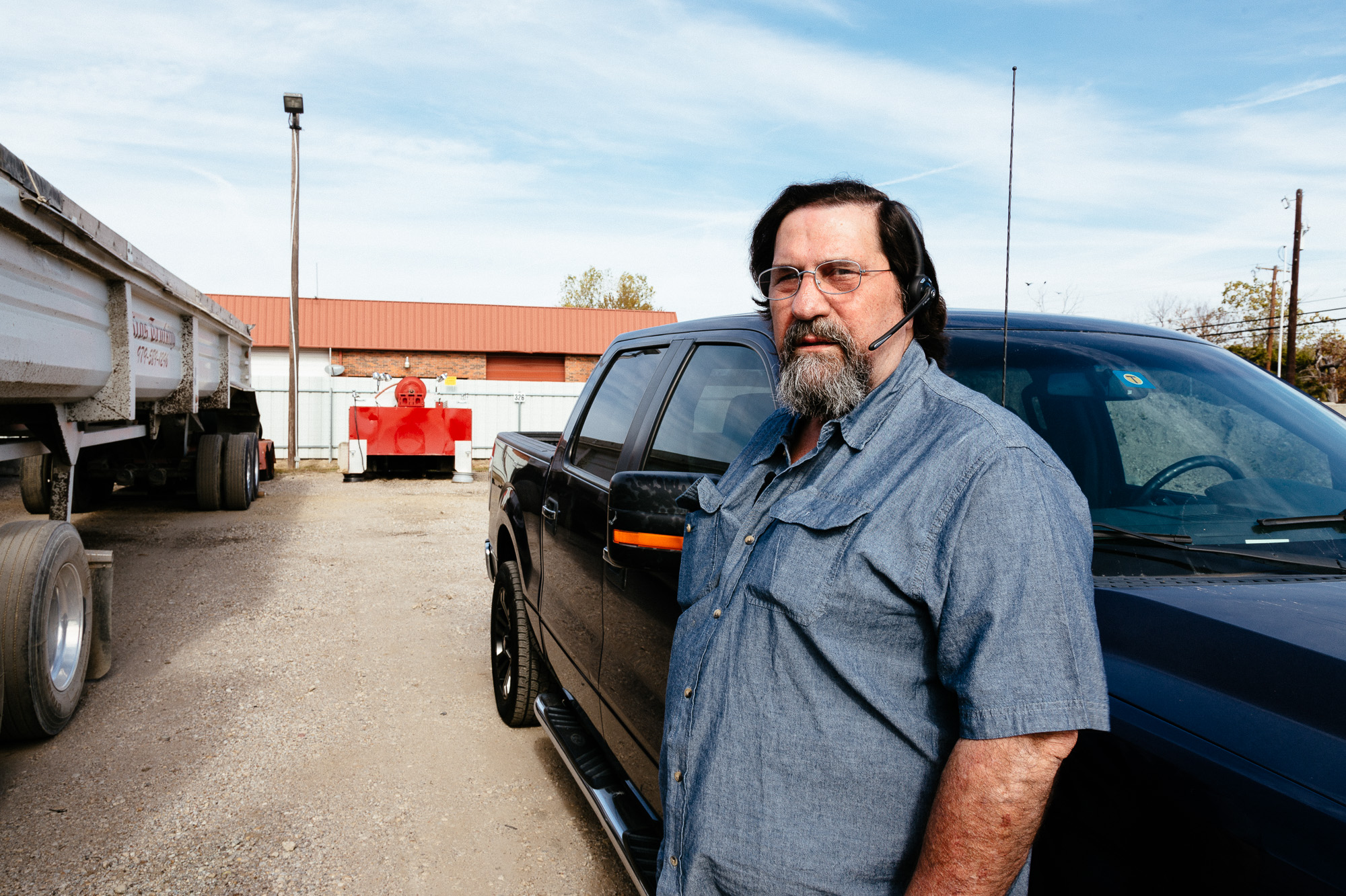 Richard stands by is truck located in Dallas, Texas.
