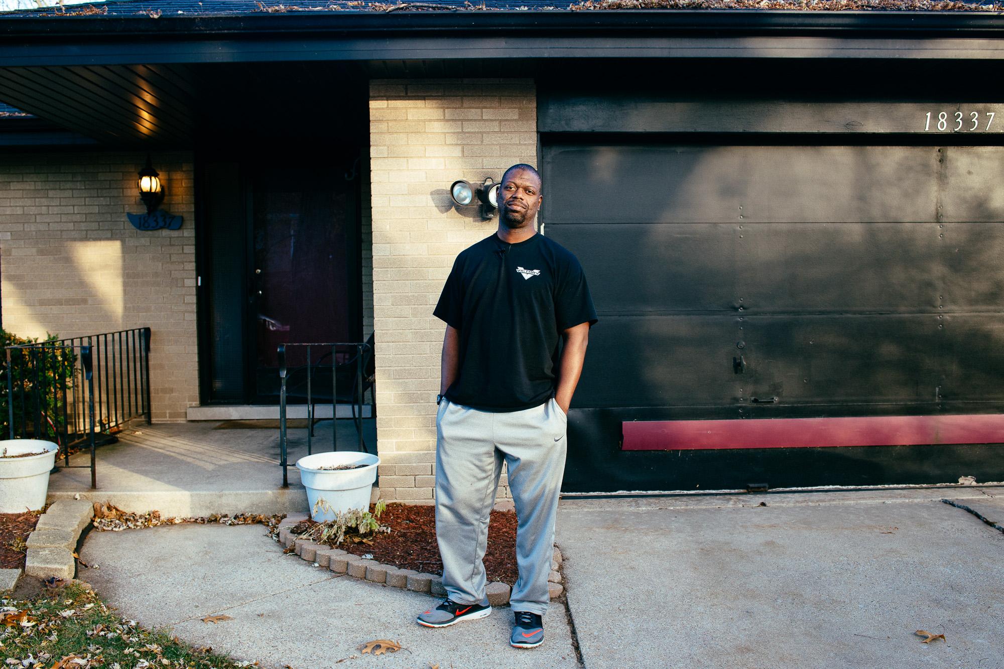 Cabrez outside his home in Chicago, IL.