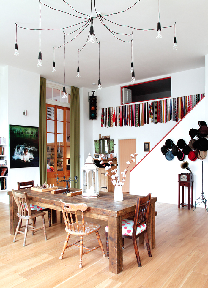 Eclectic apartment living room in Stoke Newington by Avocado Sweets