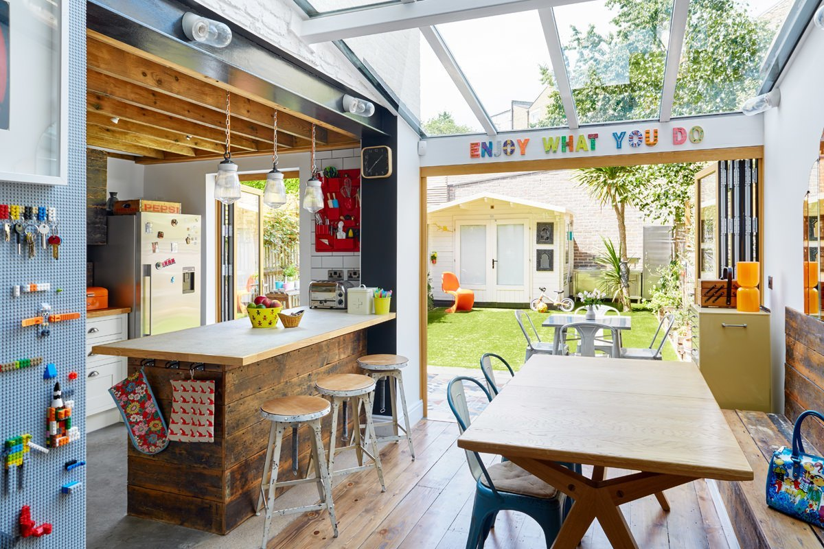 Opening up the space made a huge difference to the natural light.