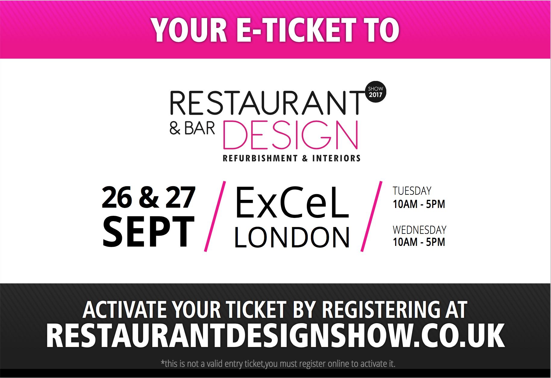 E-ticket, Restaurant & Bar Design Show.png