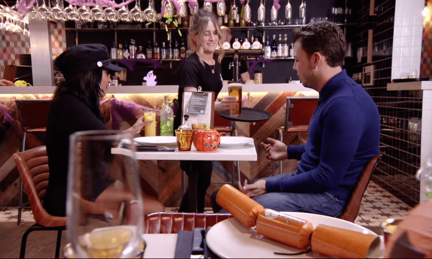 Moto's vibrant bar set the scene for this TOWIE first date on ITVBe with co-owner Georgie centre stage.