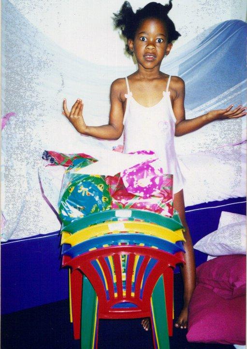 Unwrapping my birthday presents, Nairobi, Kenya.