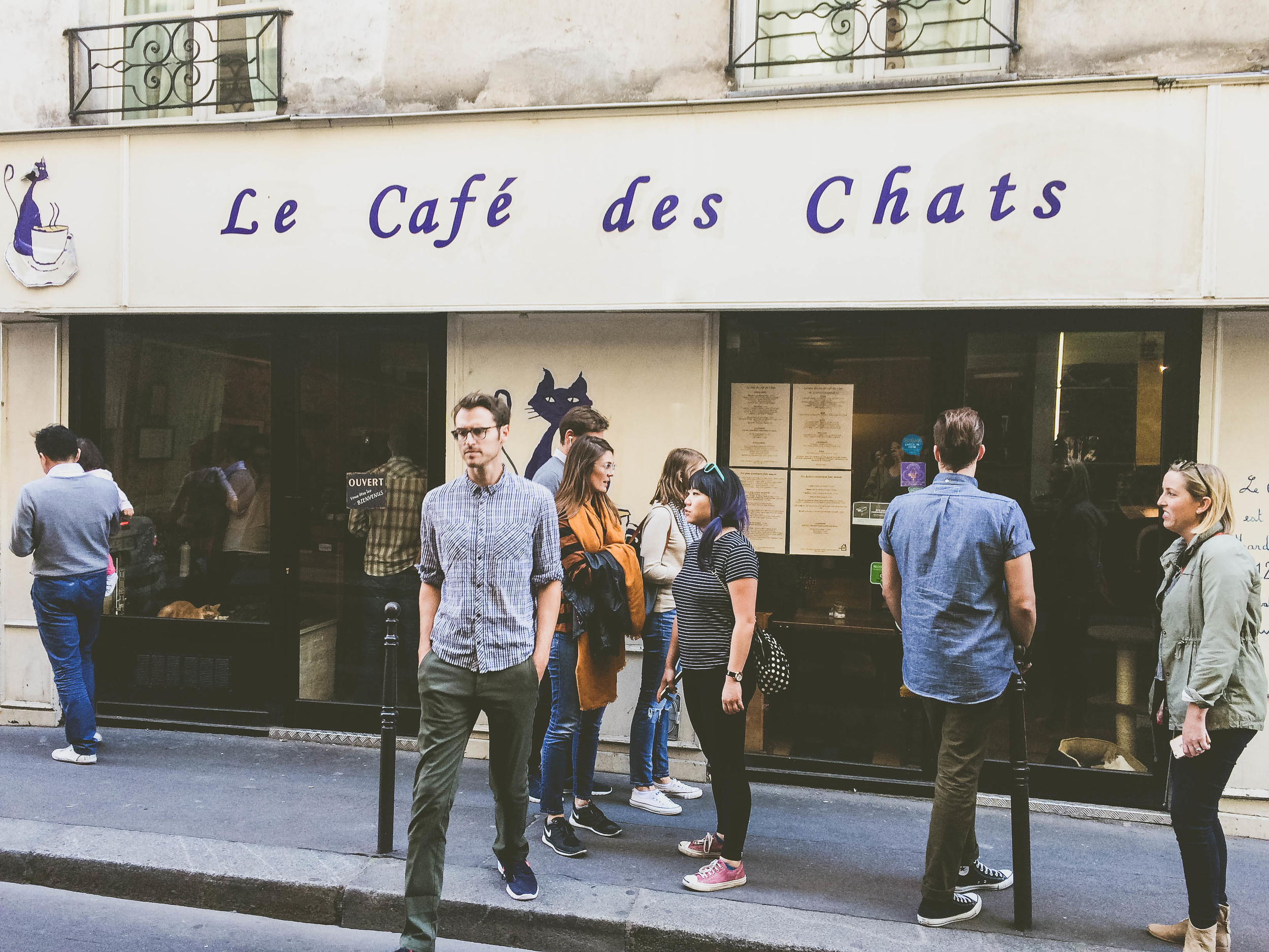 We stumbled upon Le Café des Chats and did a little window-peeking.