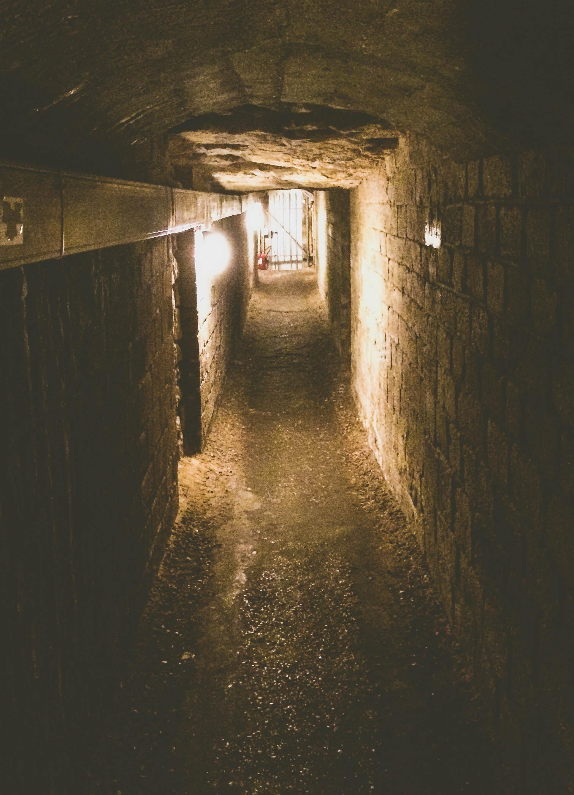 Following a long dark tunnel below the streets of Paris