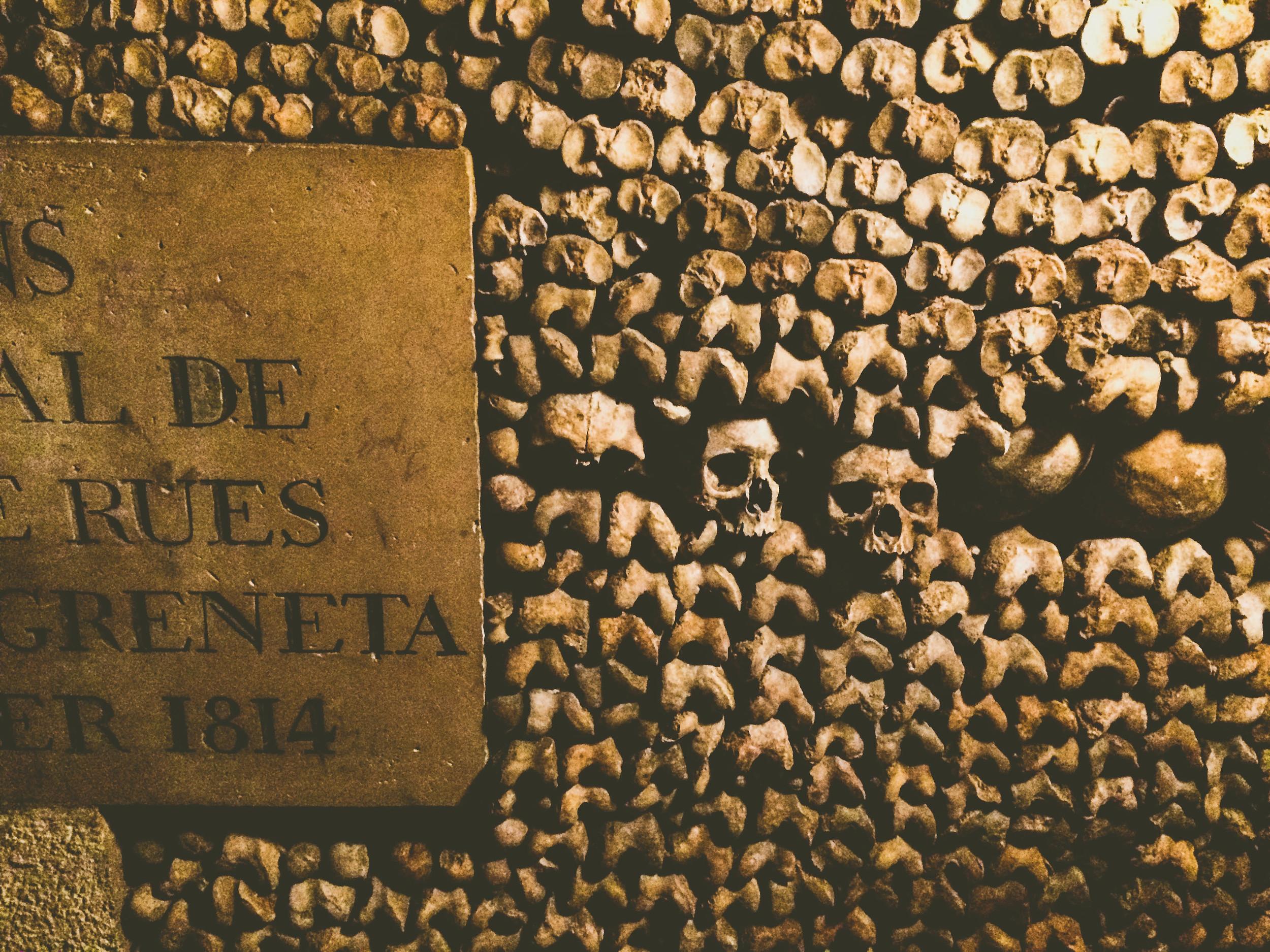 More bones in the catacombs.