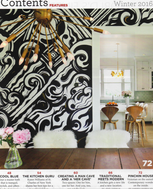 Westchester Home Magazine Winter 2016 , Pinchin House,  Table of Contents
