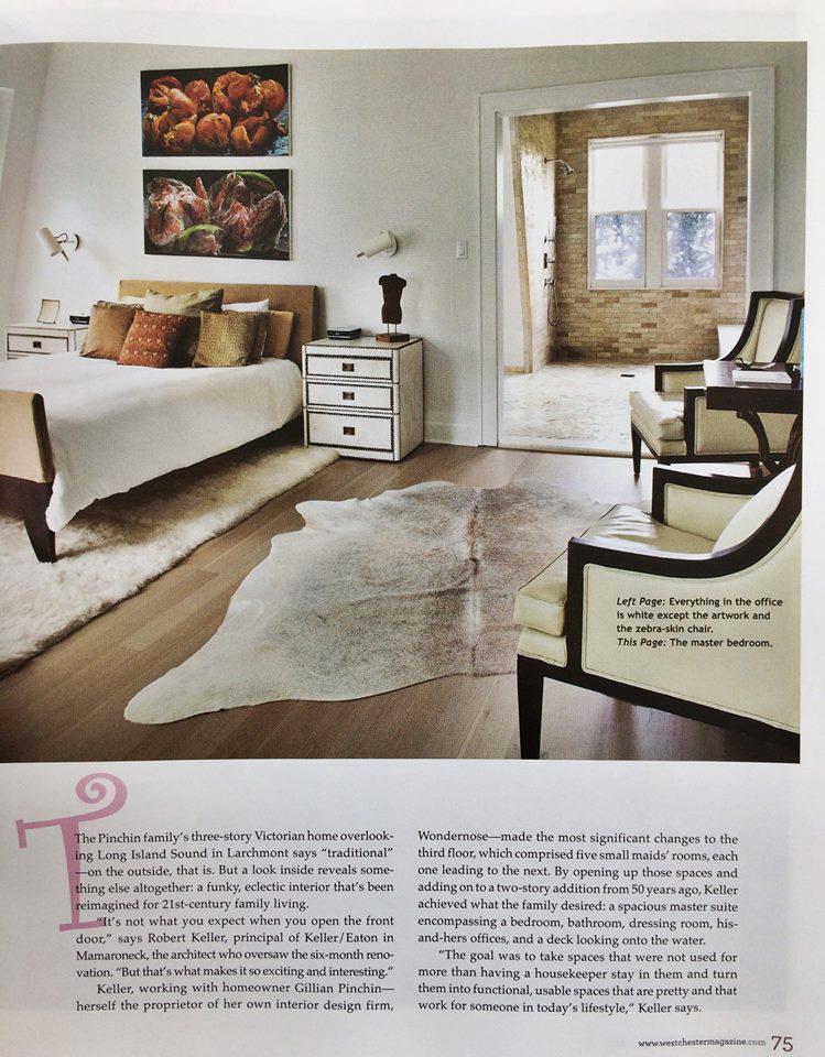 Westchester Home Magazine Winter 2016 , Pinchin House,  Page 75