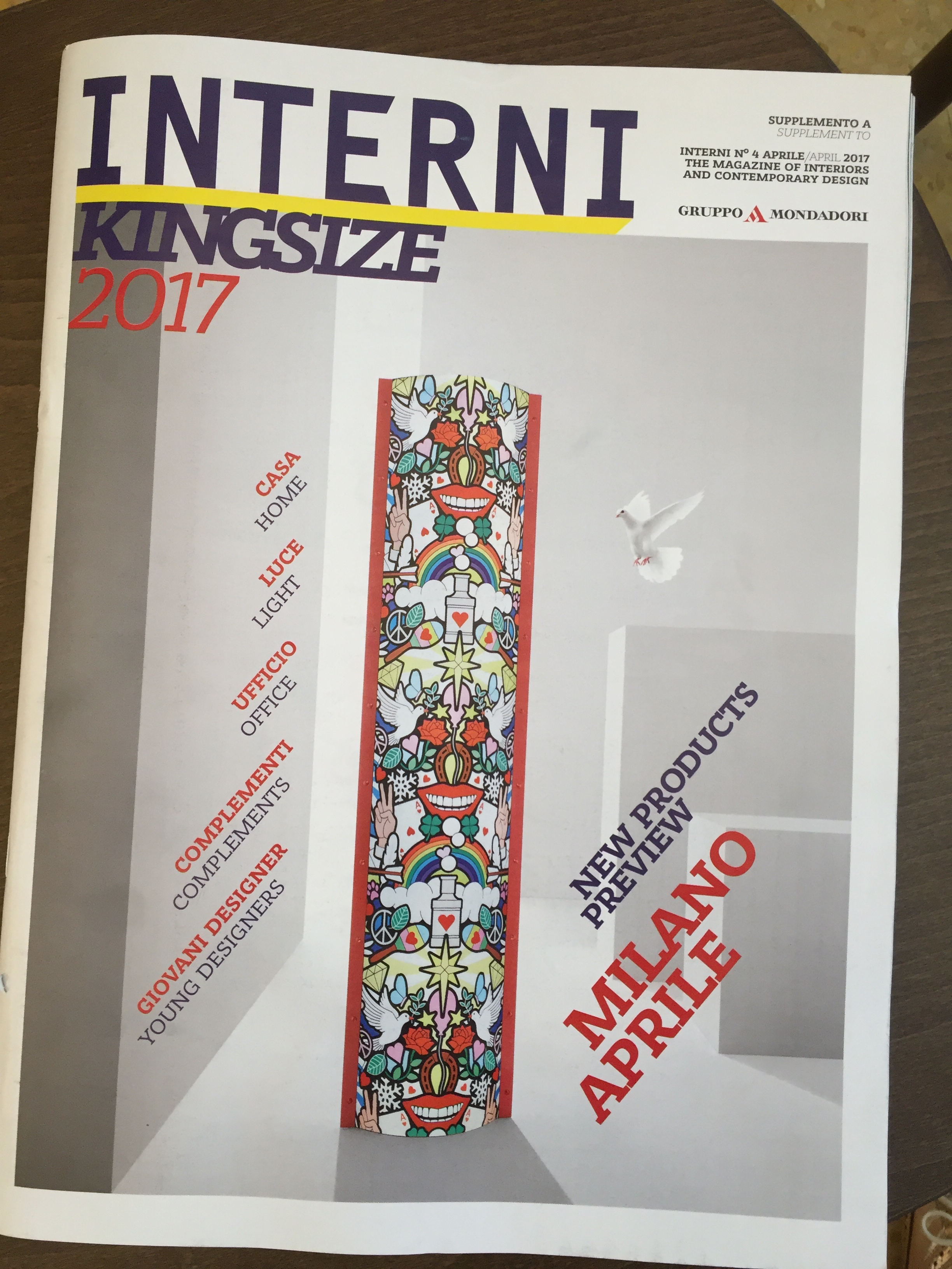 ITALY - APRIL 2017 - KINGSIZE SPECIAL EDITION SALONE DEL MOBILE 2017