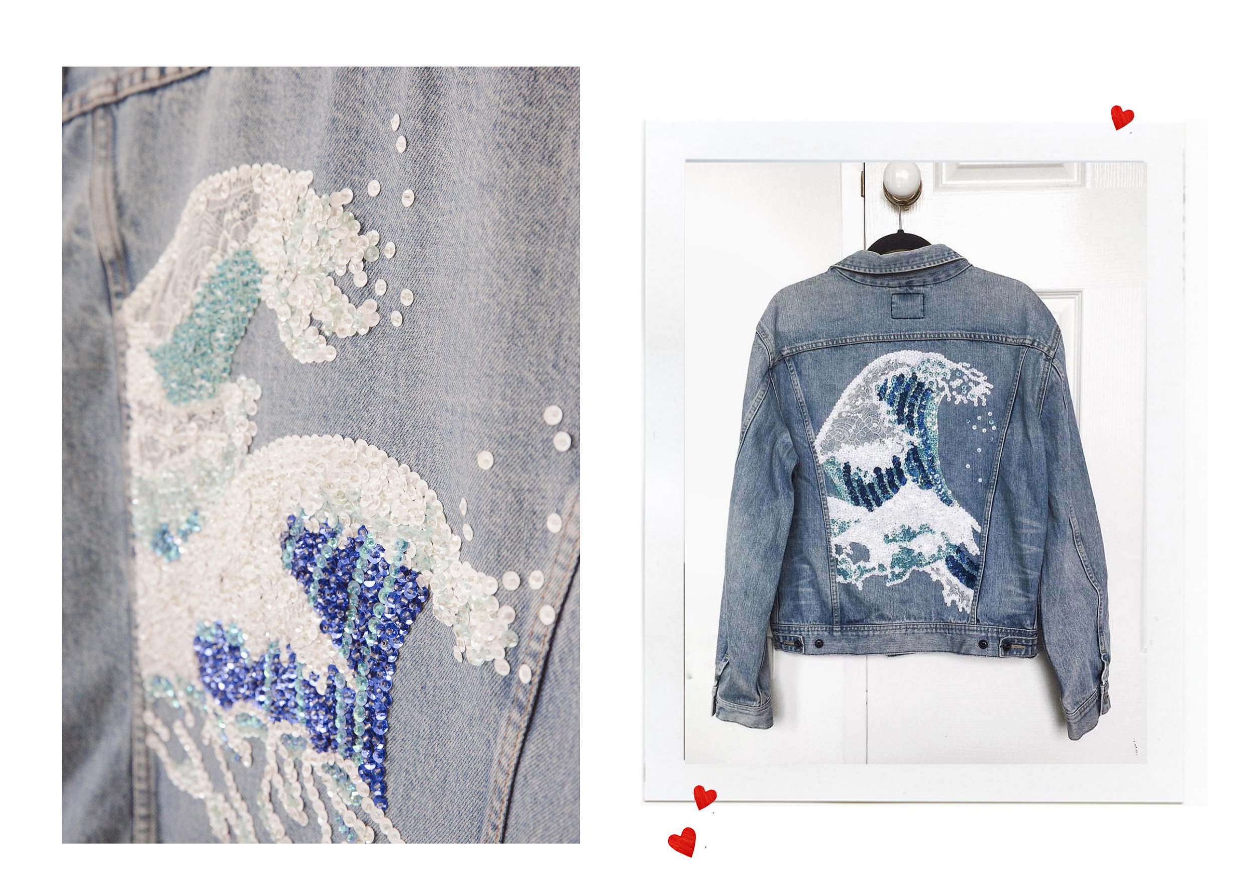 Customise Your Denim - As seen here, The Karissa Great Wave
