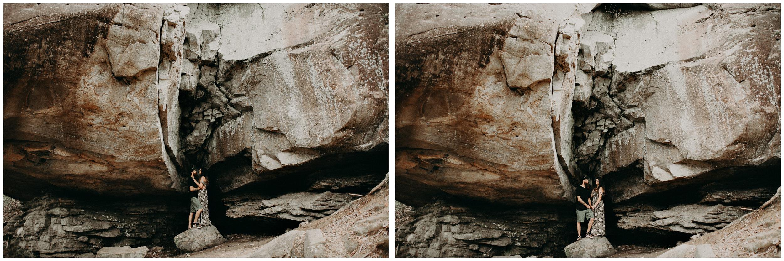 Cloudland canyon, whaterfall georgia, couples waterfall engagement 13.jpg