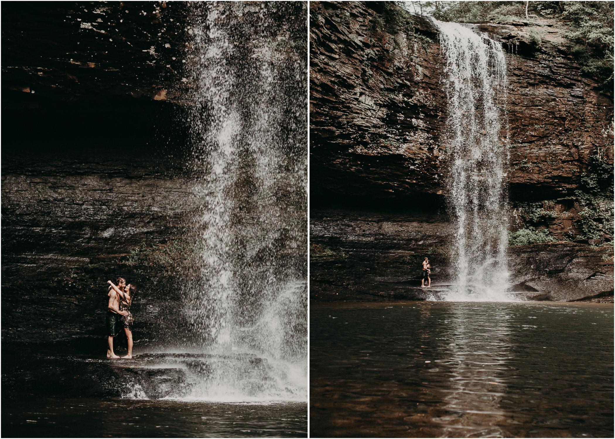 Cloudland canyon, whaterfall georgia, couples waterfall engagement 32.jpg