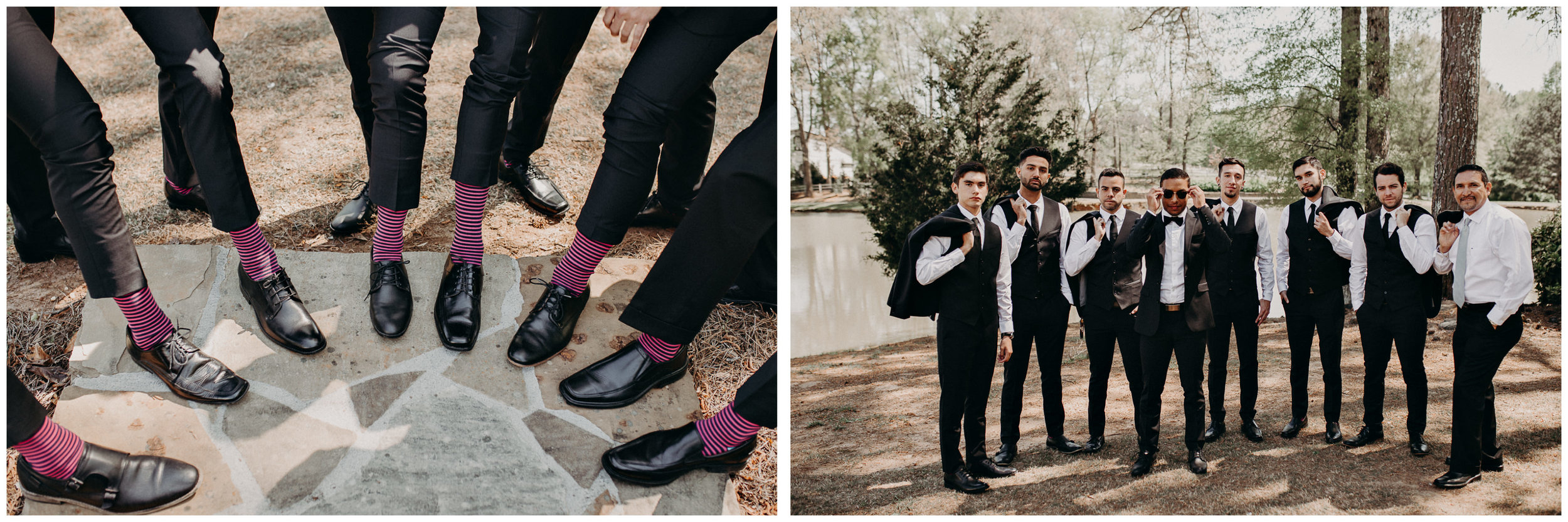 10 - Little River Farms - first look - Atlanta - Wedding Venue - Atlanta Wedding Photographer - Georgia weddings details wedding dress shoes gather .jpg