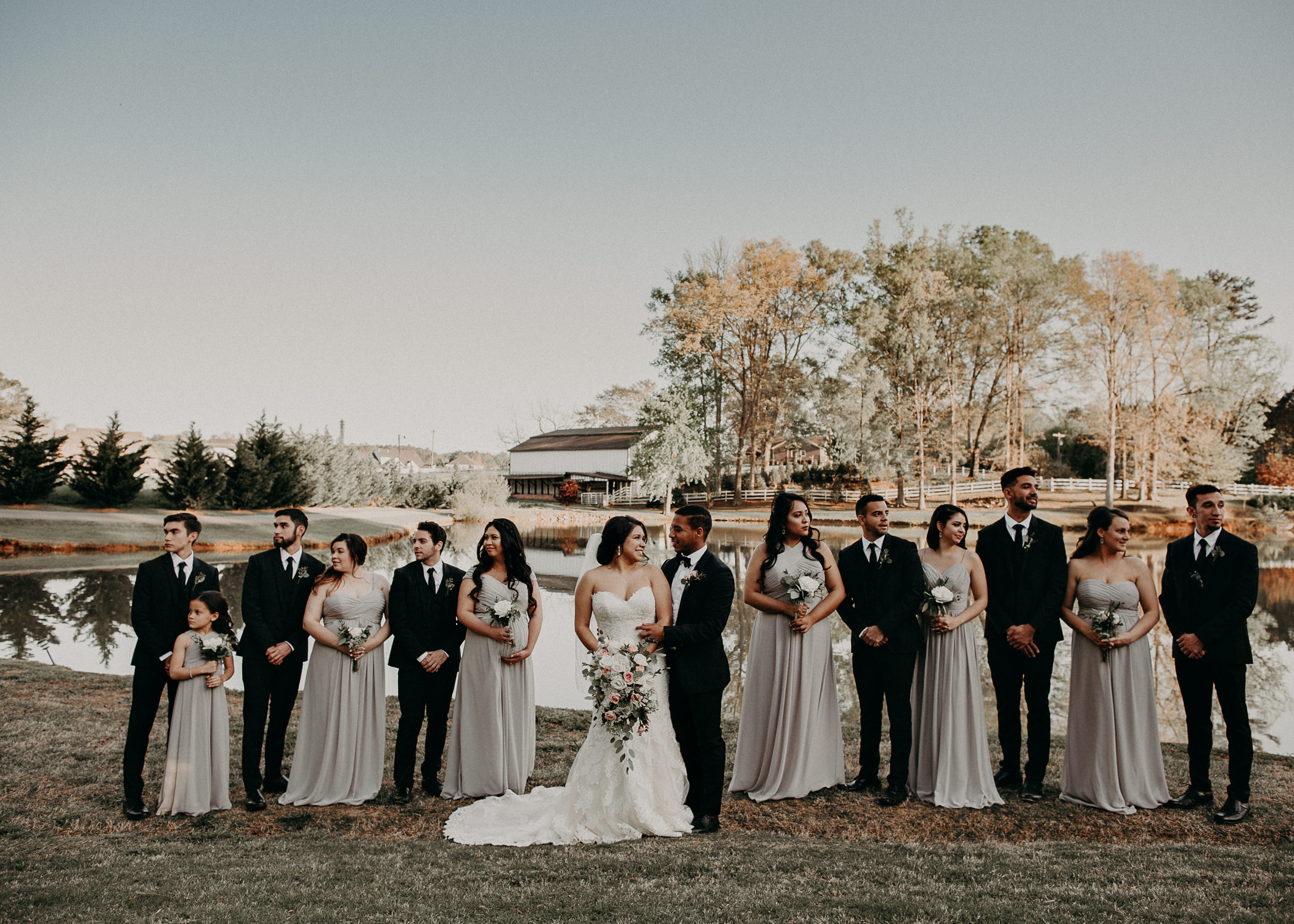 45  - Little River Farms - first look - Atlanta - Wedding Venue - Atlanta Wedding Photographer - Georgia weddings details wedding dress shoes gather groom bridal party .jpg